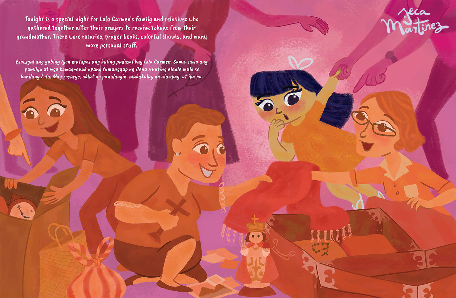 Children's Book Illustration by Jeca Martinez for Lala and the Enchanted Cloak 1