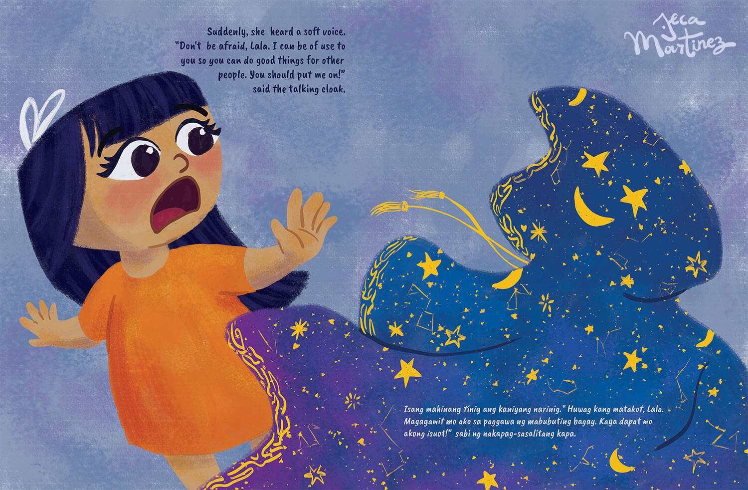 Children's Book Illustration by Jeca Martinez for Lala and the Enchanted Cloak 3