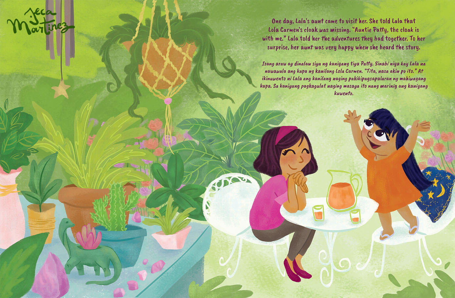 Children's Book Illustration by Jeca Martinez for Lala and the Enchanted Cloak 5