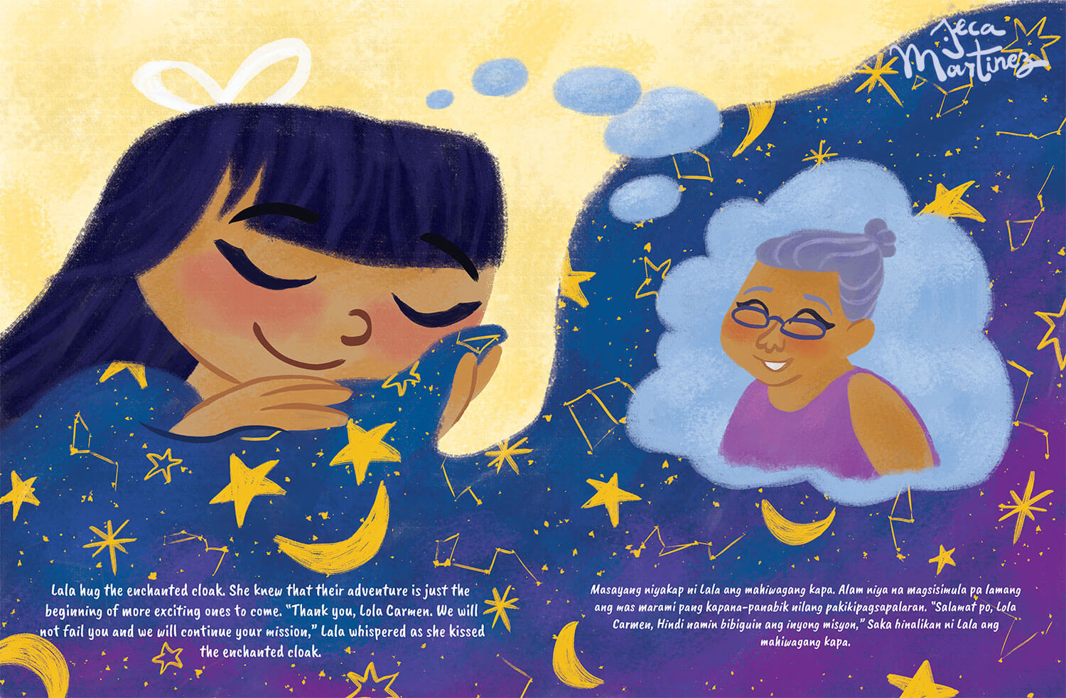 Children's Book Illustration by Jeca Martinez for Lala and the Enchanted Cloak 6