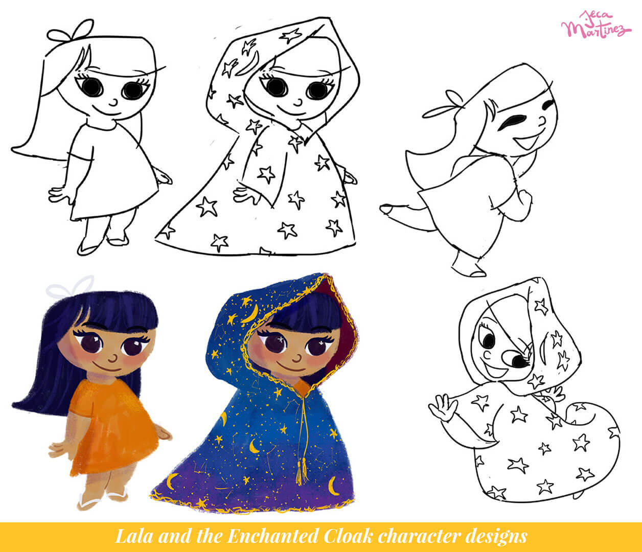 Character Design by Jeca Martinez for Lala and the Enchanted Cloak 1