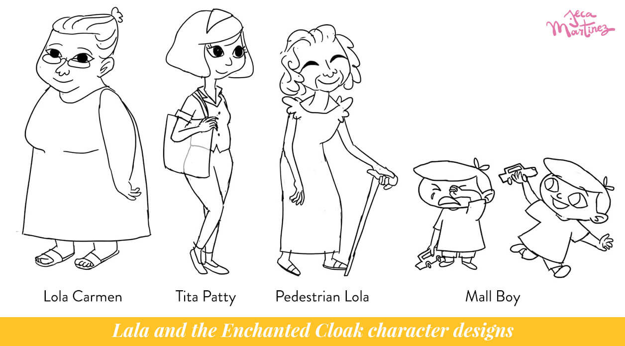 Character Design by Jeca Martinez for Lala and the Enchanted Cloak 2