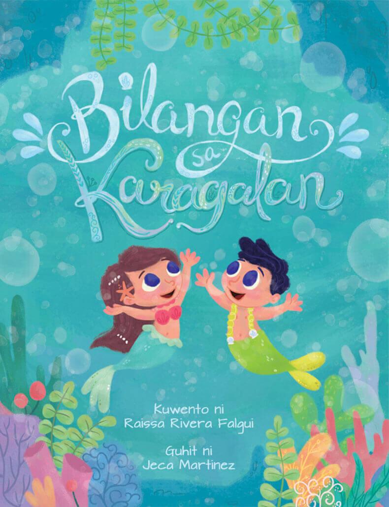 Cover of Counting In The Ocean (Bilangan Sa Karagatan) Childrens Book for Vibal Group by Jeca Martinez