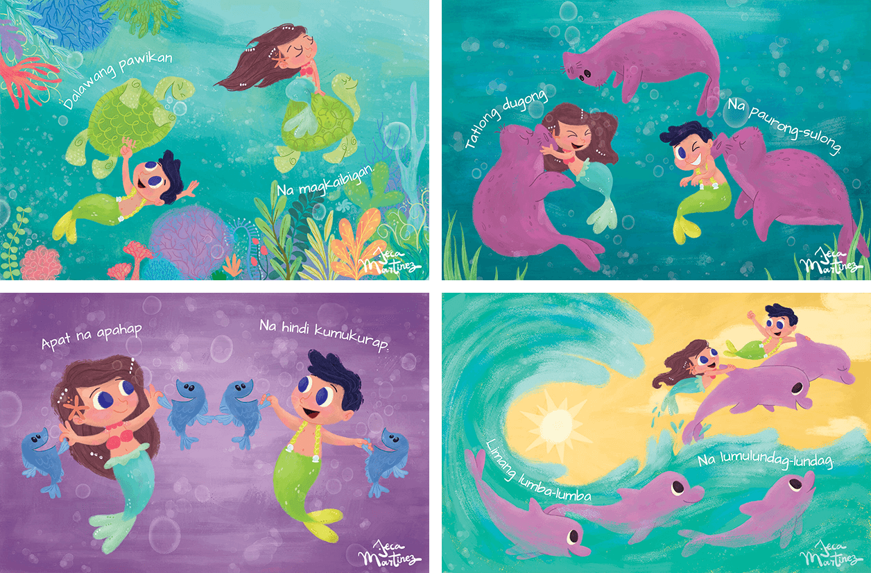 Children's Book Illustrations for Counting In The Ocean (Bilangan Sa Karagatan) Childrens Book Illustrations for Vibal Group by Jeca Martinez 1