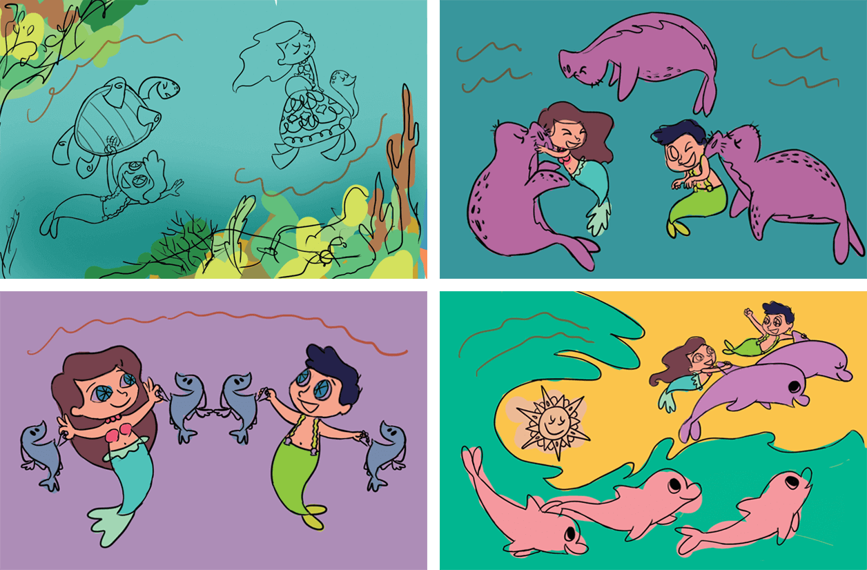 Color Composition for Counting In The Ocean (Bilangan Sa Karagatan) Childrens Book Illustrations for Vibal Group by Jeca Martinez 1.png