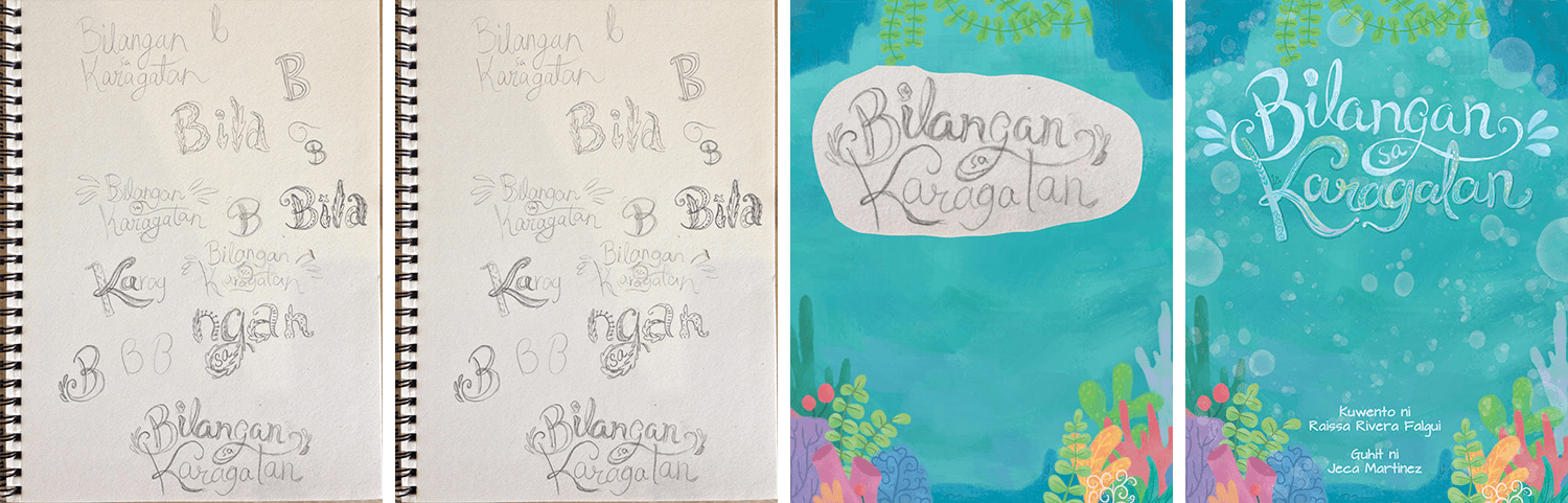 Hand Lettered Book Title for Counting In The Ocean (Bilangan Sa Karagatan) by Jeca Martinez