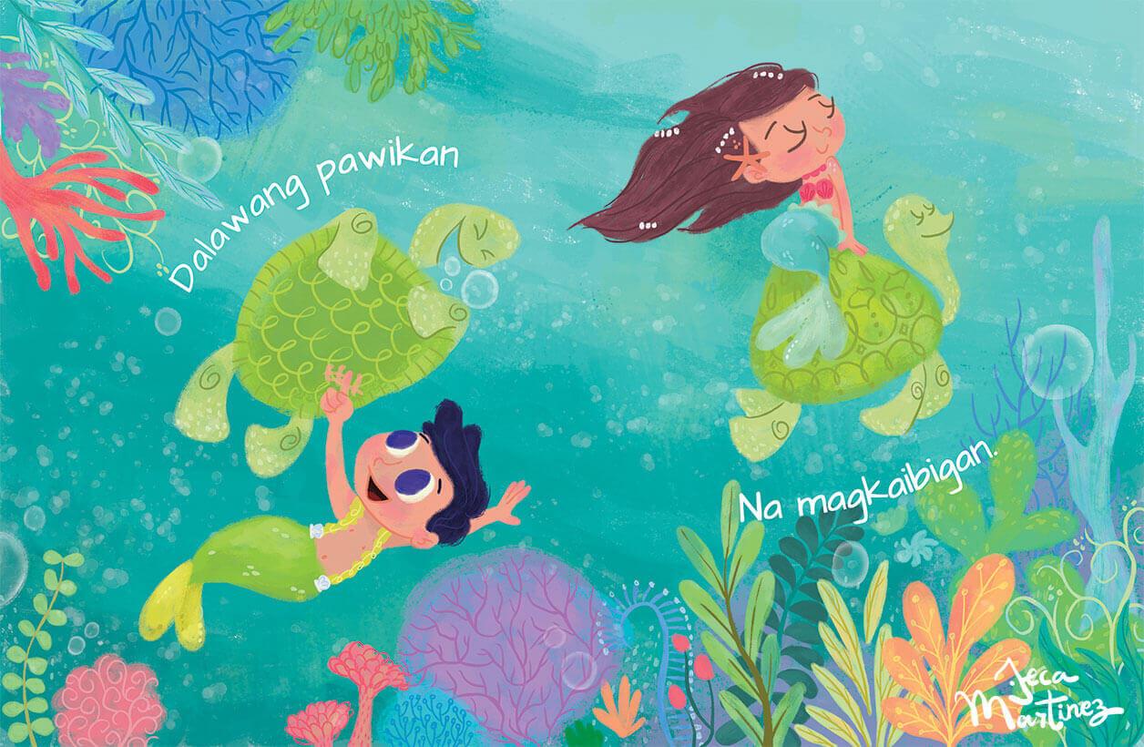 Counting In The Ocean (Bilangan Sa Karagatan) Childrens Book Illustrations for Vibal Group by Jeca Martinez 1