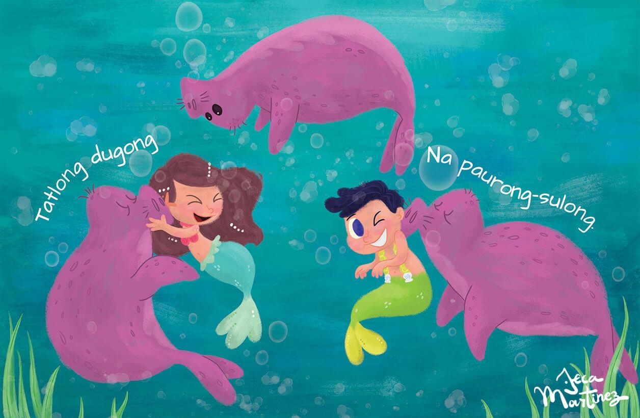 Counting In The Ocean (Bilangan Sa Karagatan) Childrens Book Illustrations for Vibal Group by Jeca Martinez 2