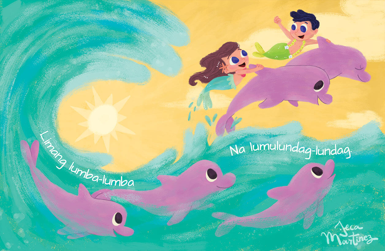 Counting In The Ocean (Bilangan Sa Karagatan) Childrens Book Illustrations for Vibal Group by Jeca Martinez 4