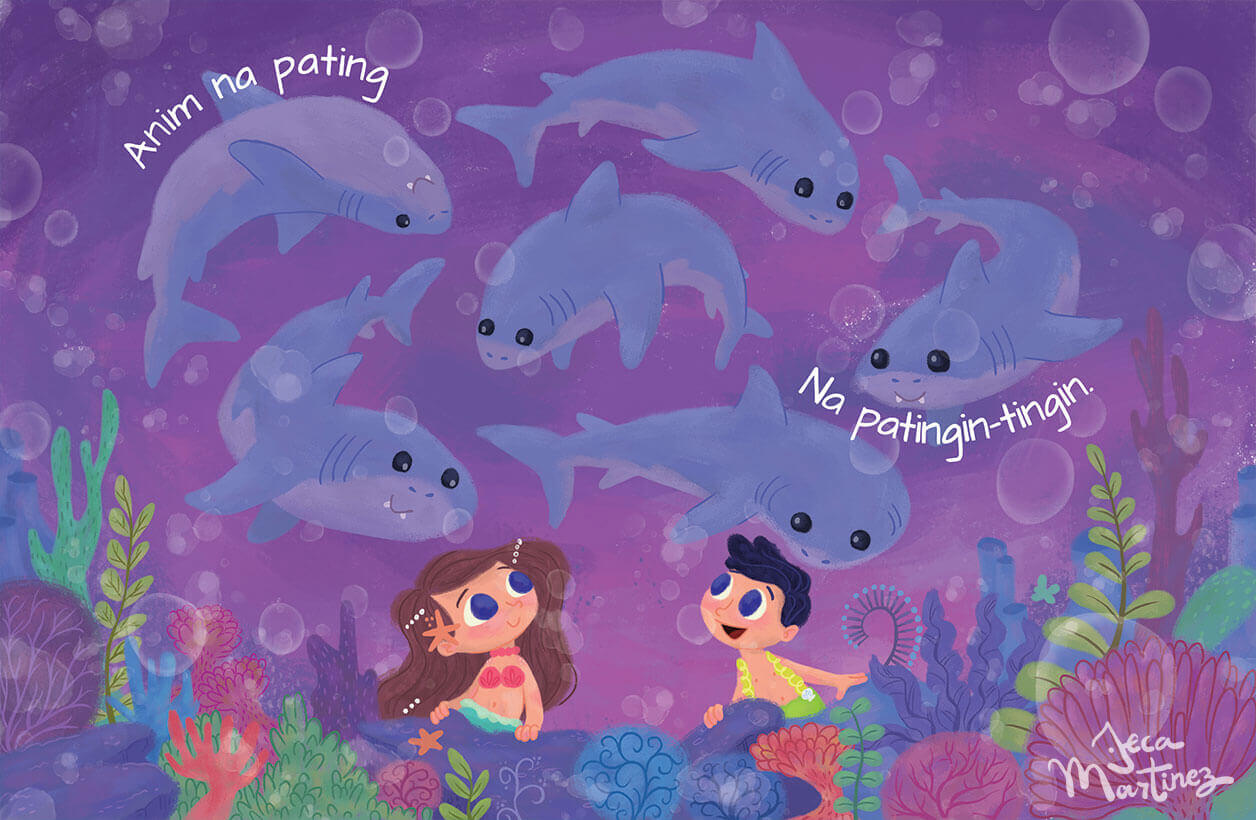 Counting In The Ocean (Bilangan Sa Karagatan) Childrens Book Illustrations for Vibal Group by Jeca Martinez 5