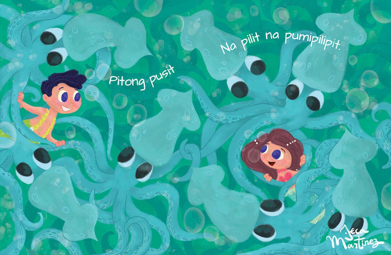 Counting In The Ocean (Bilangan Sa Karagatan) Childrens Book Illustrations for Vibal Group by Jeca Martinez 6