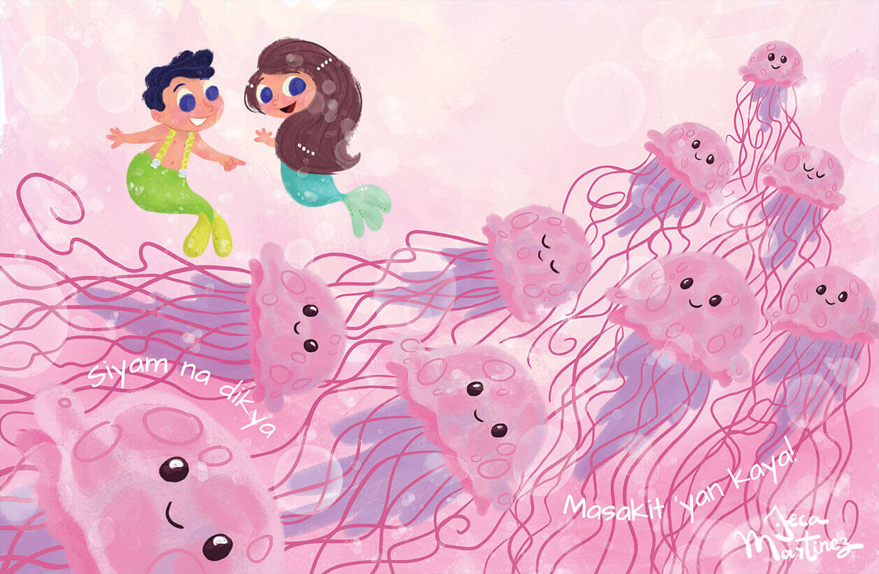 Counting In The Ocean (Bilangan Sa Karagatan) Childrens Book Illustrations for Vibal Group by Jeca Martinez 7