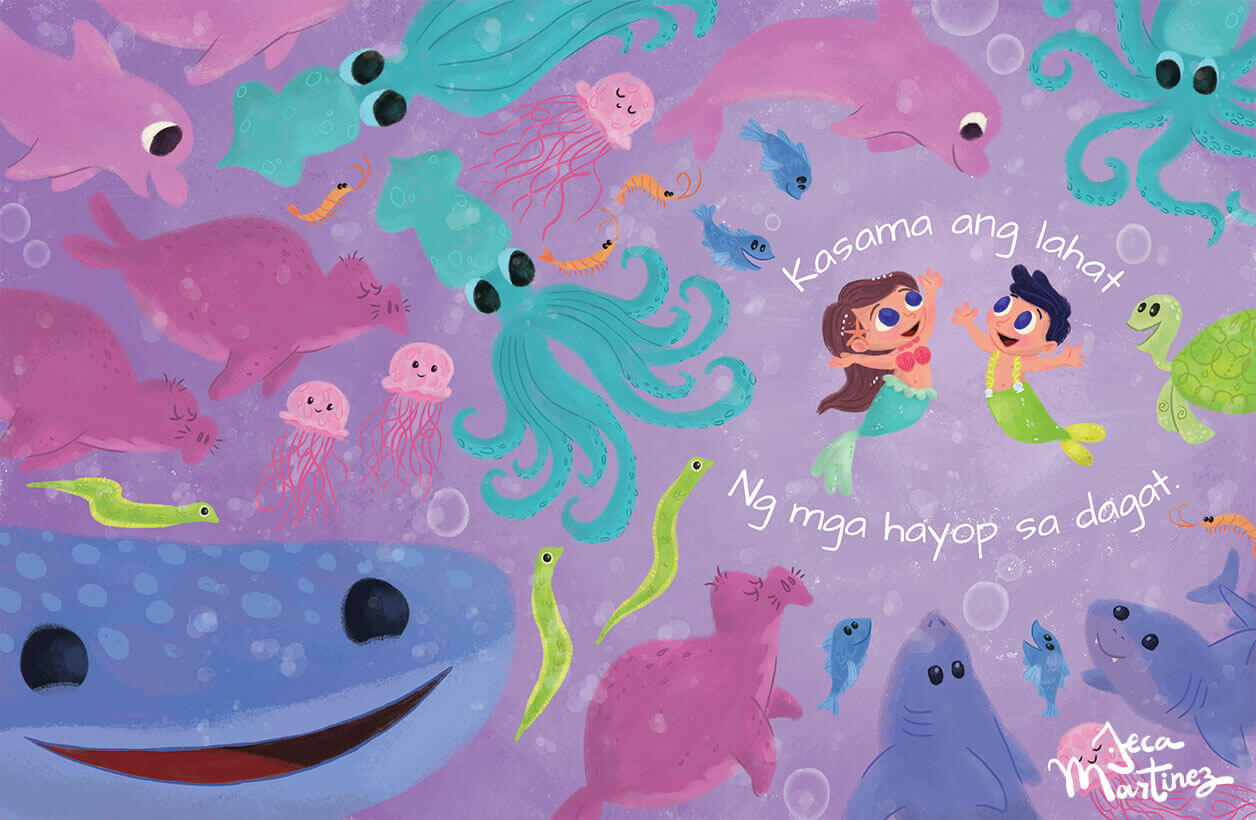 Counting In The Ocean (Bilangan Sa Karagatan) Childrens Book Illustrations for Vibal Group by Jeca Martinez 8