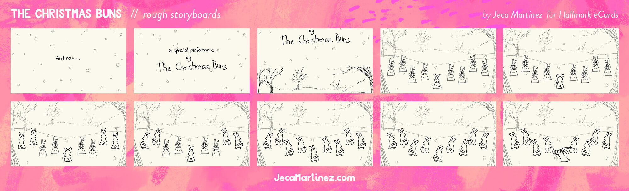 The Christmas Buns Animation Rough Storyboards for Hallmark by Jeca Martinez