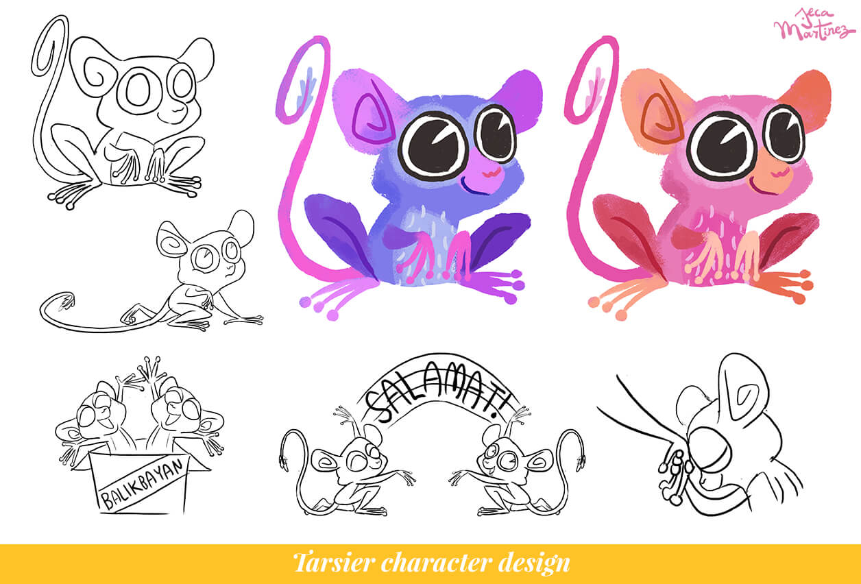 Tarsier Character Design for the Mabuhay Messaging GIF Stickers for Facebook Messenger by Jeca Martinez.jpg