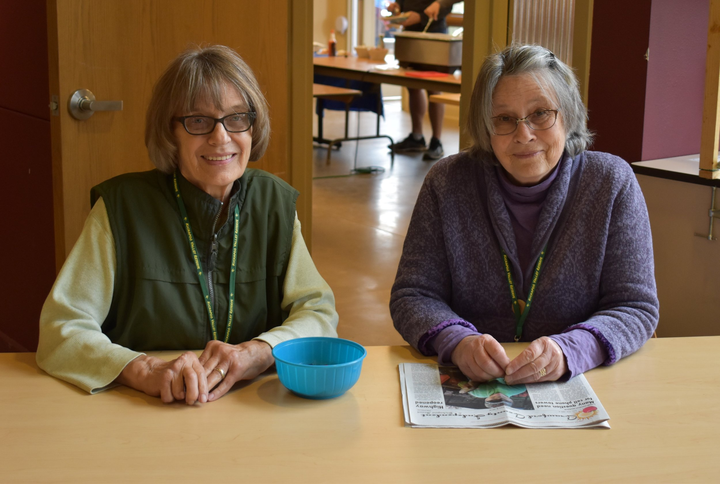 Friends of the Kickapoo Valley Reserve members Sharon Miessner and Jean Beck