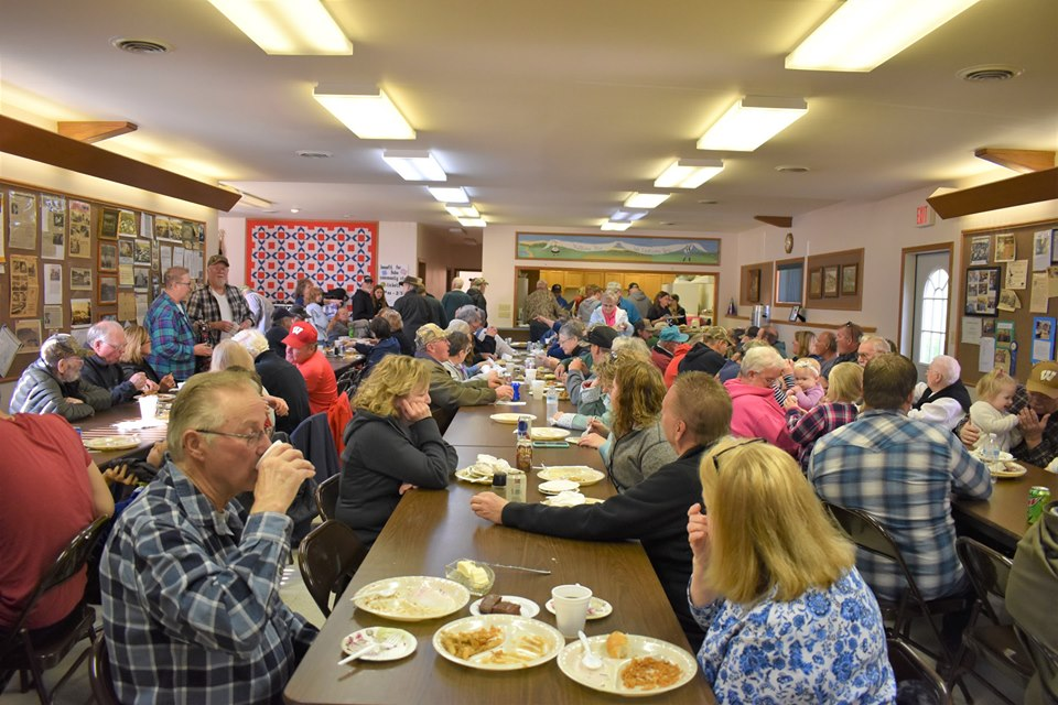 A full house, the annual smelt feed draws people from at least thirty miles away.