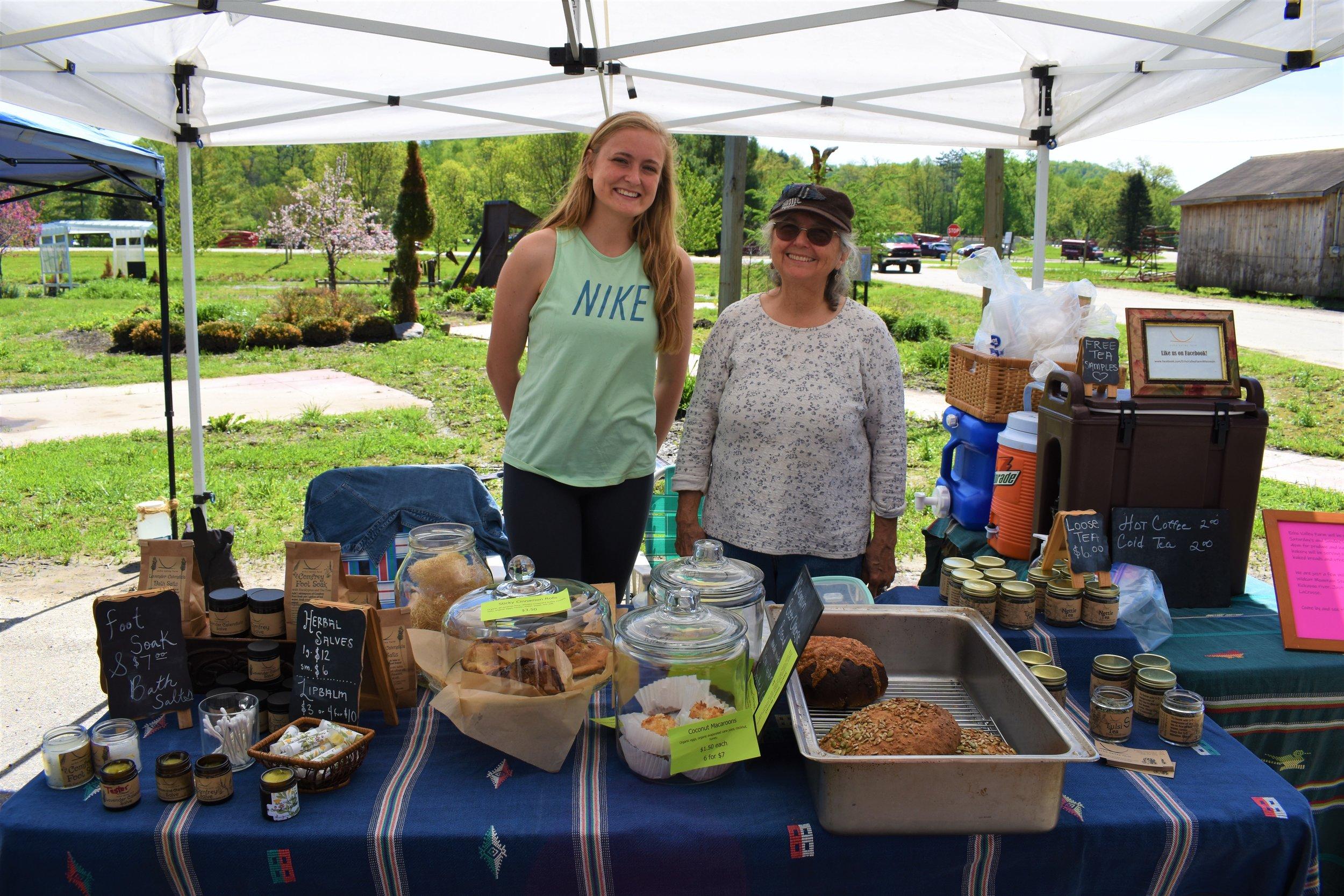 L to R- Jennifer Boyle and Deb Hiltz of Echo Valley Farm Ontario, WI.