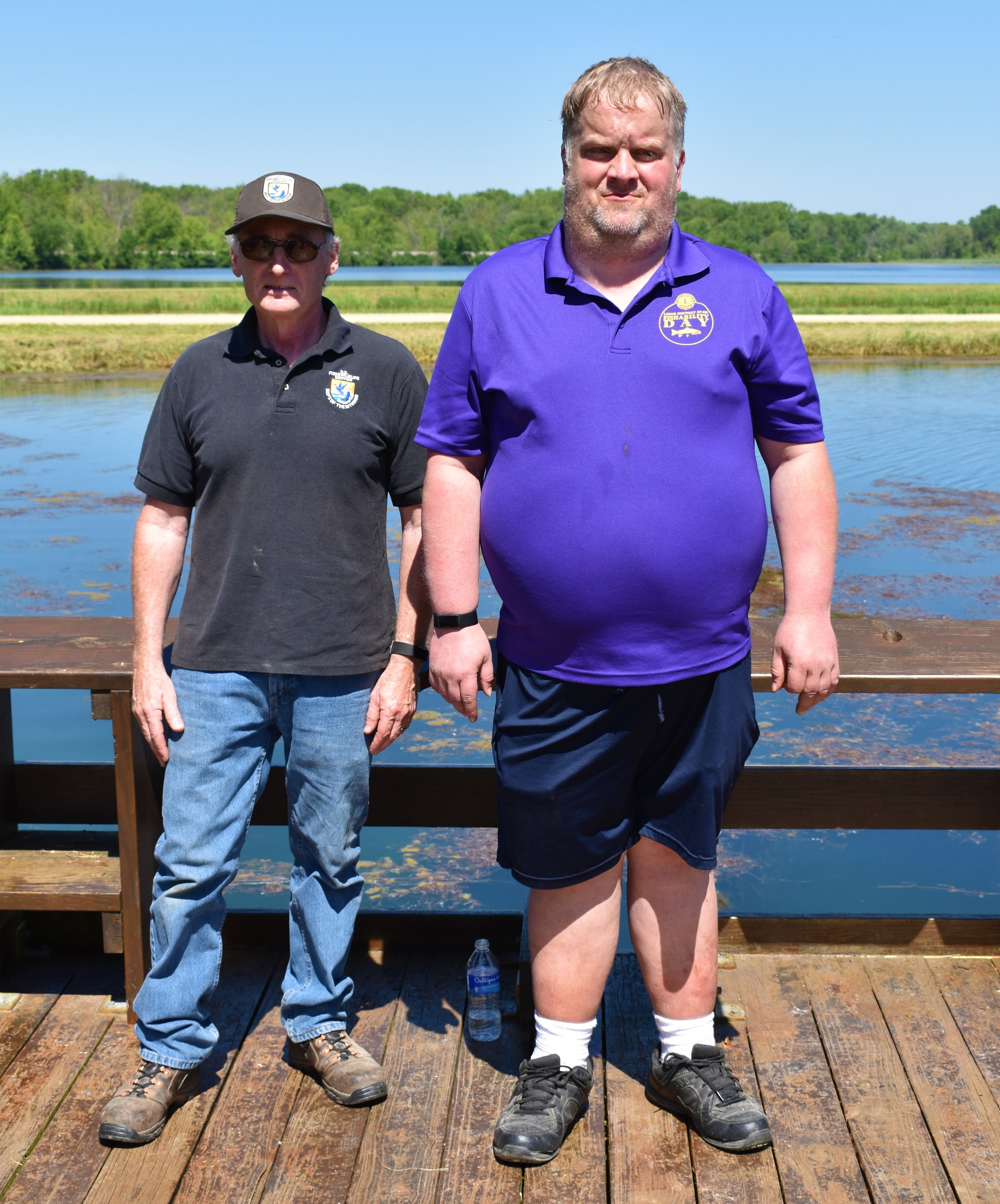 L to R-Genoa Fisheries Manager Doug Aloisi and Dan Wolfe, Fishability Day event chair and member of the Stoddard Lions Club