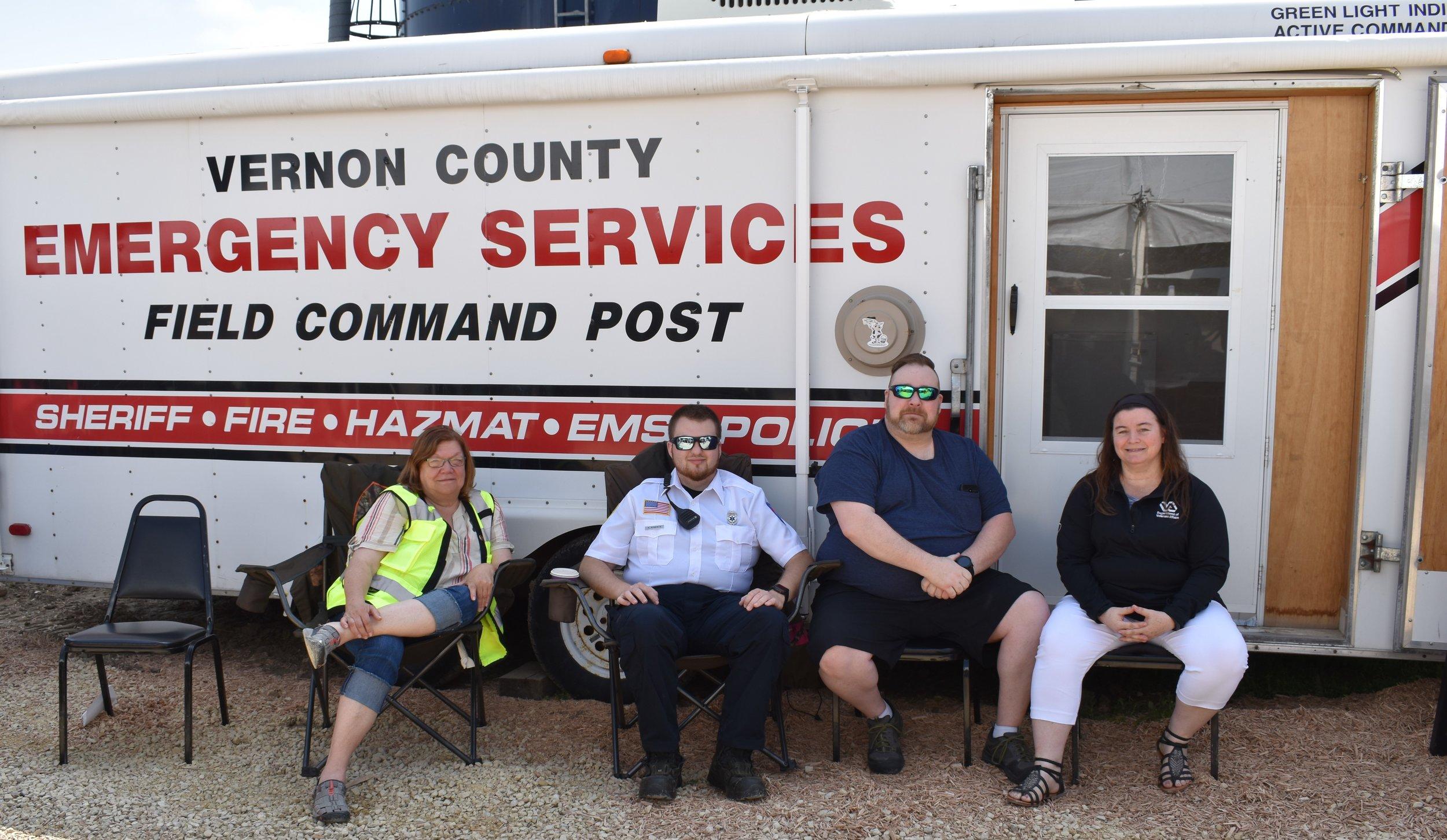 EMS members L to R- Cindy Lindvig, Hunter Roberts, Patrick Brannan, and Mona Balsdon