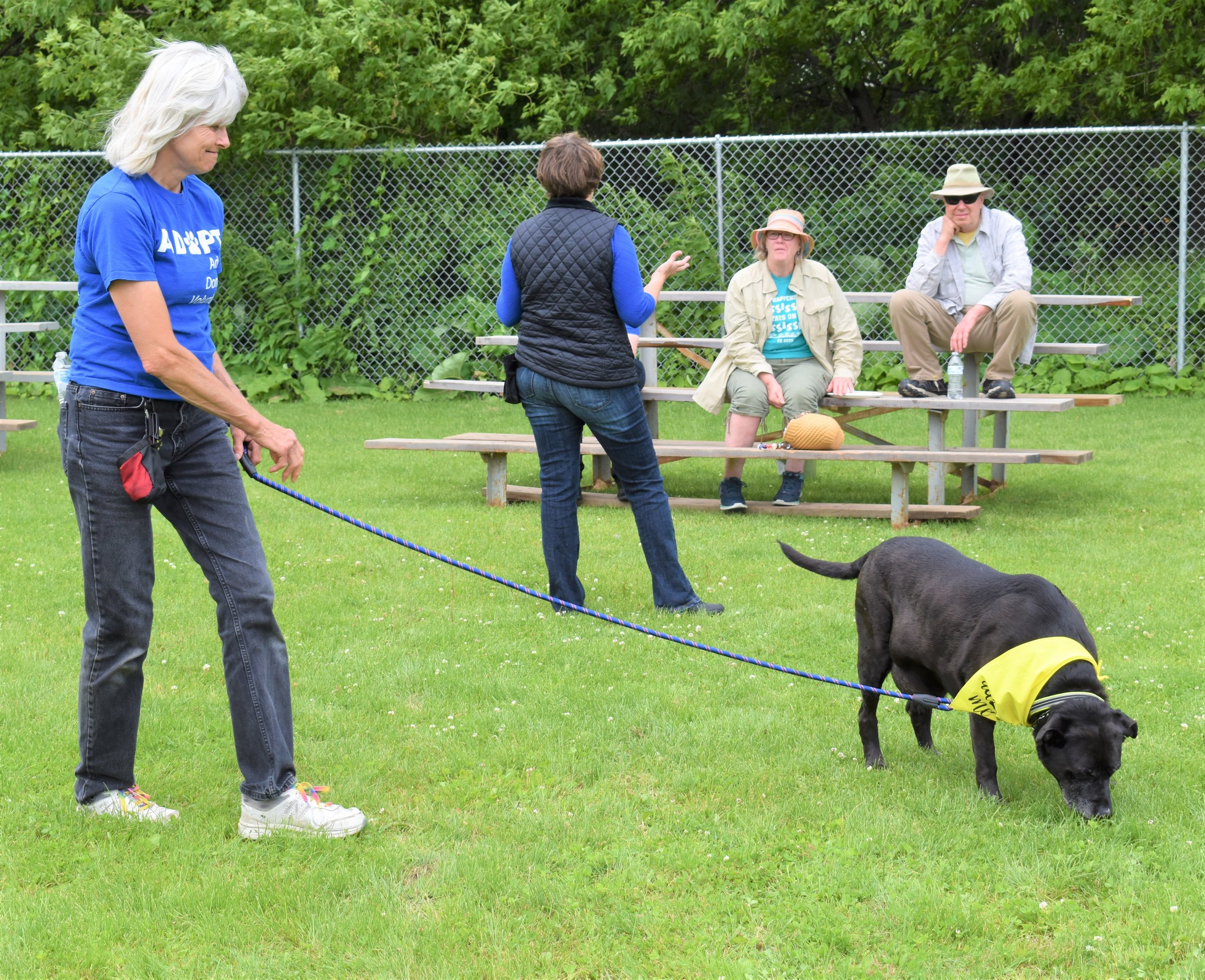 Driftless Humane Society Kennel Manager, Mary Fremstad and resident tour guide Mo-Mo