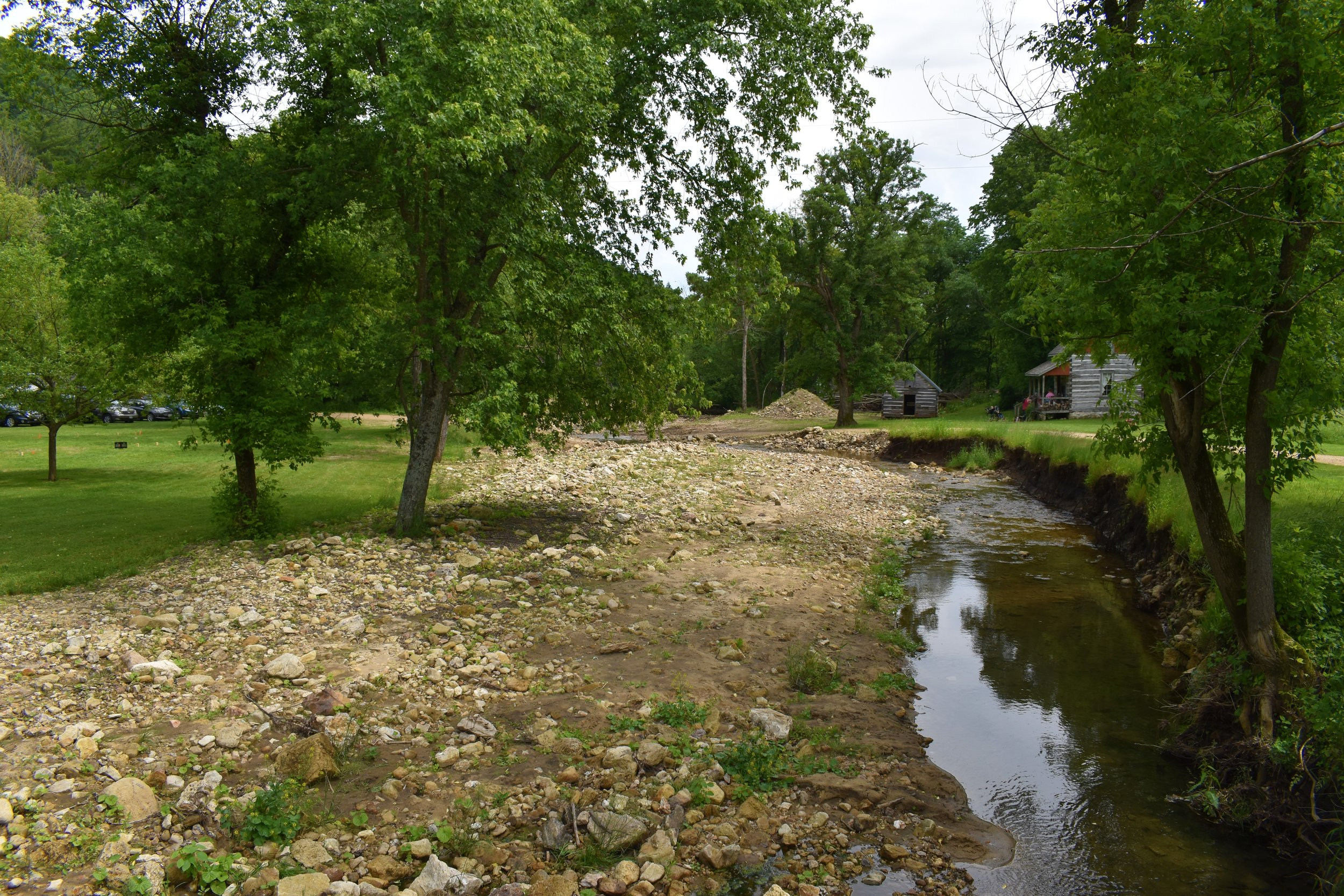 Some of the extensive creek bank damage