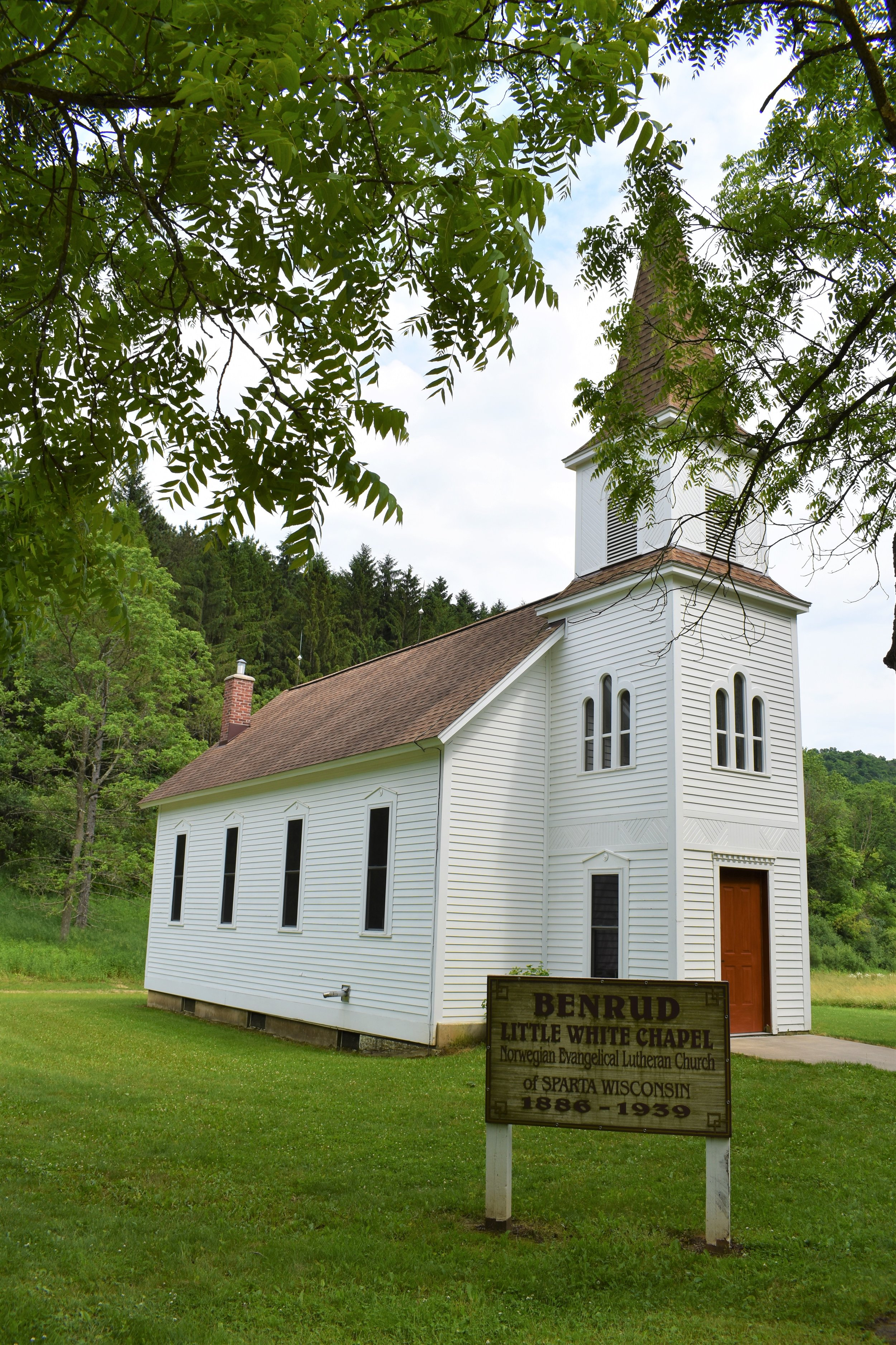 The Benrud Little White Chapel-1886-1939 from Sparta, WI