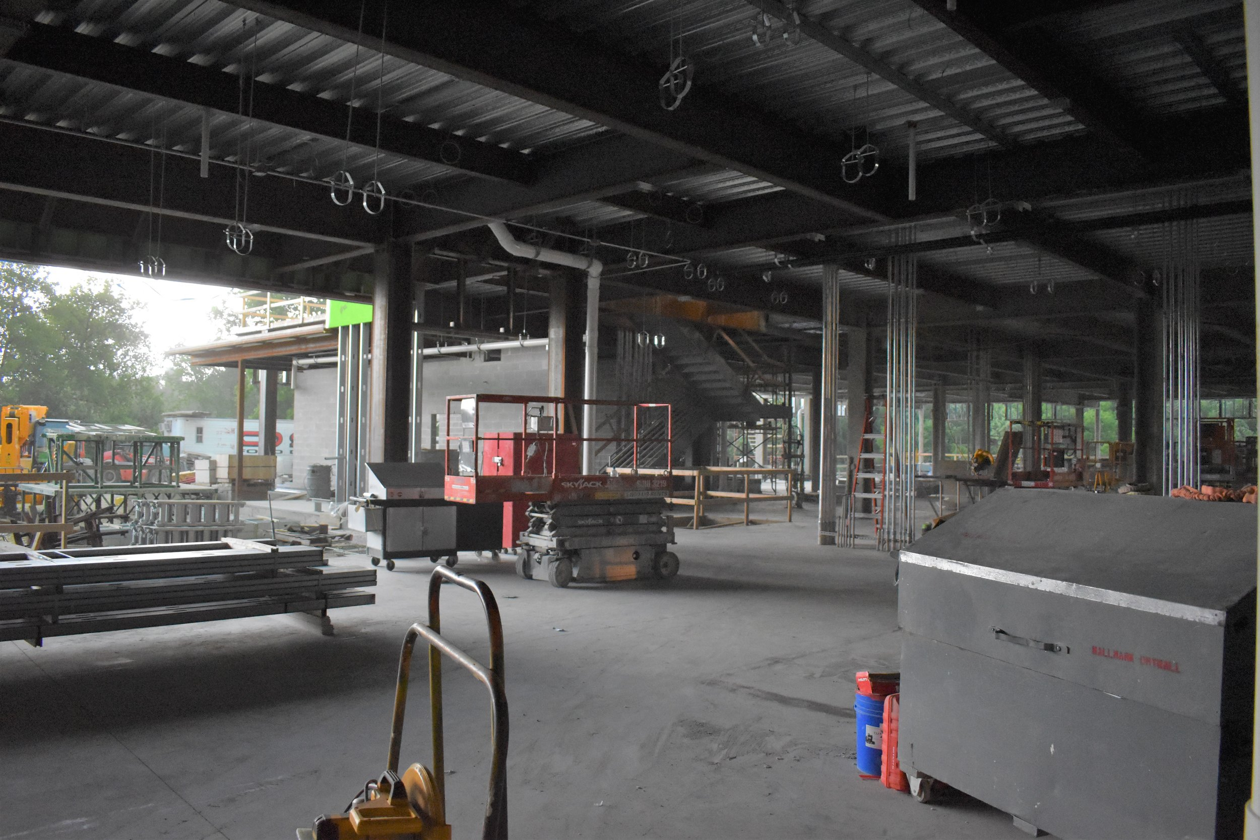 Ground floor, looking out towards the receiving area