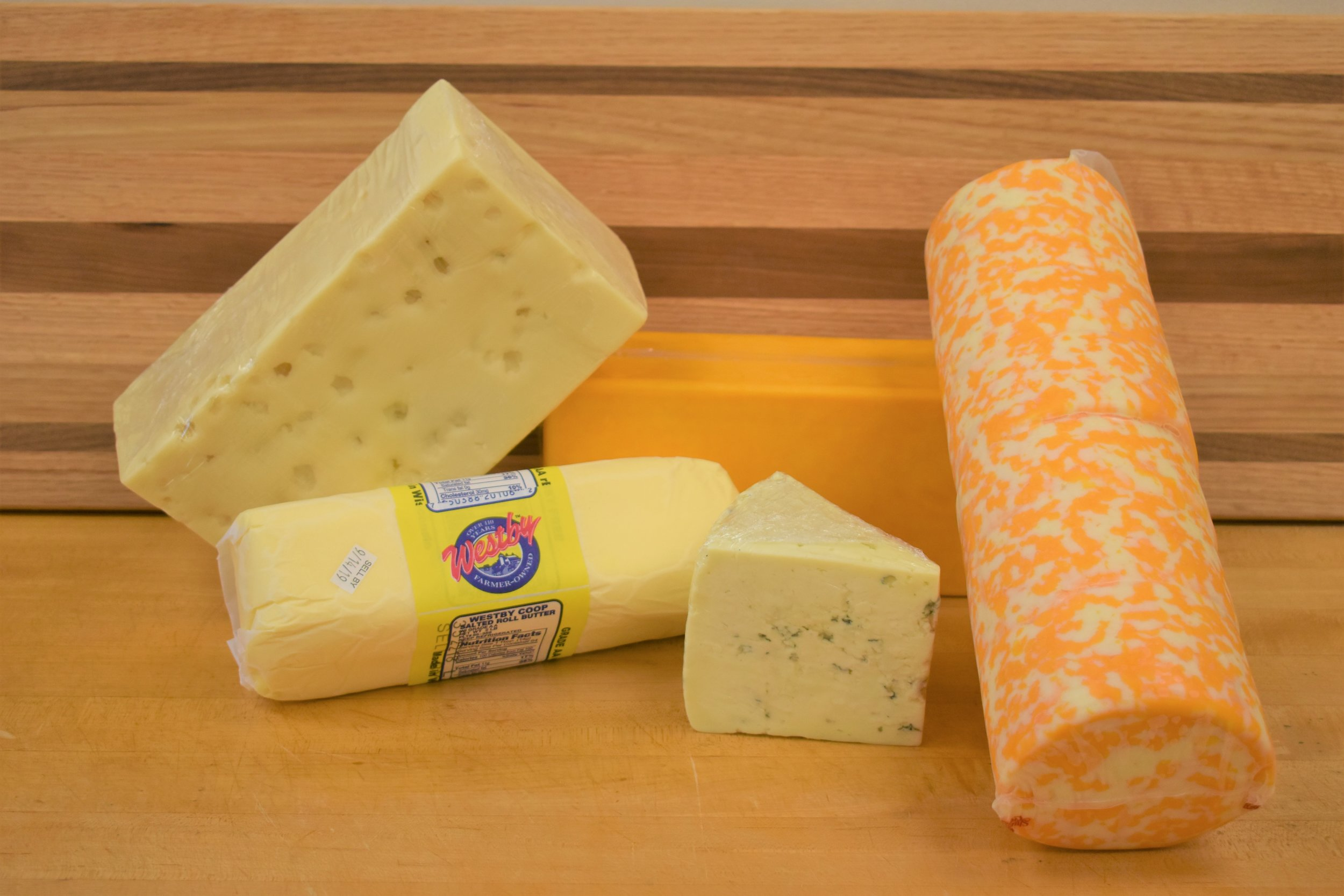 Up close and personal with a few cheeses