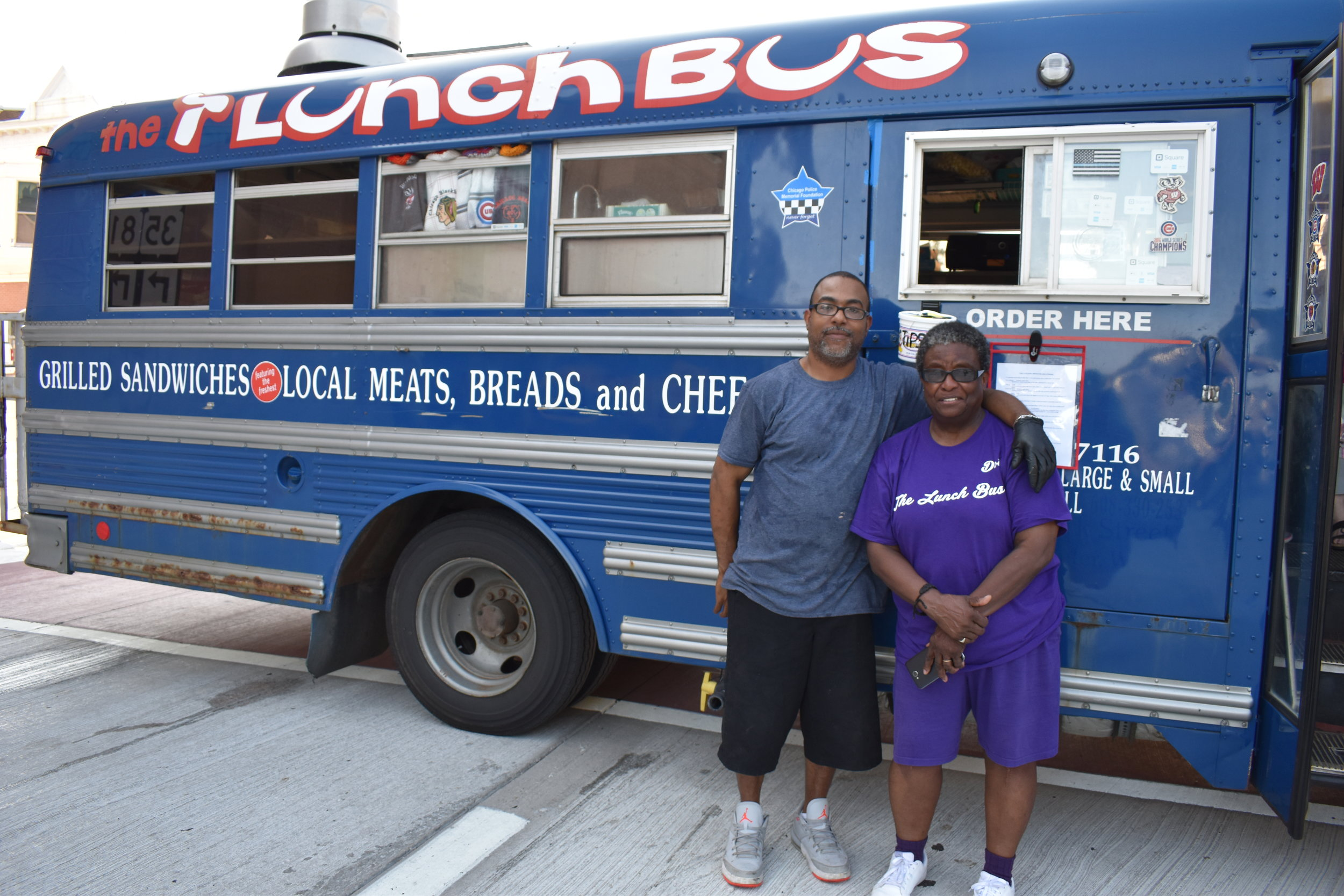 Chef Ed and his Mom Dorothy and their 'Lunch Bus'