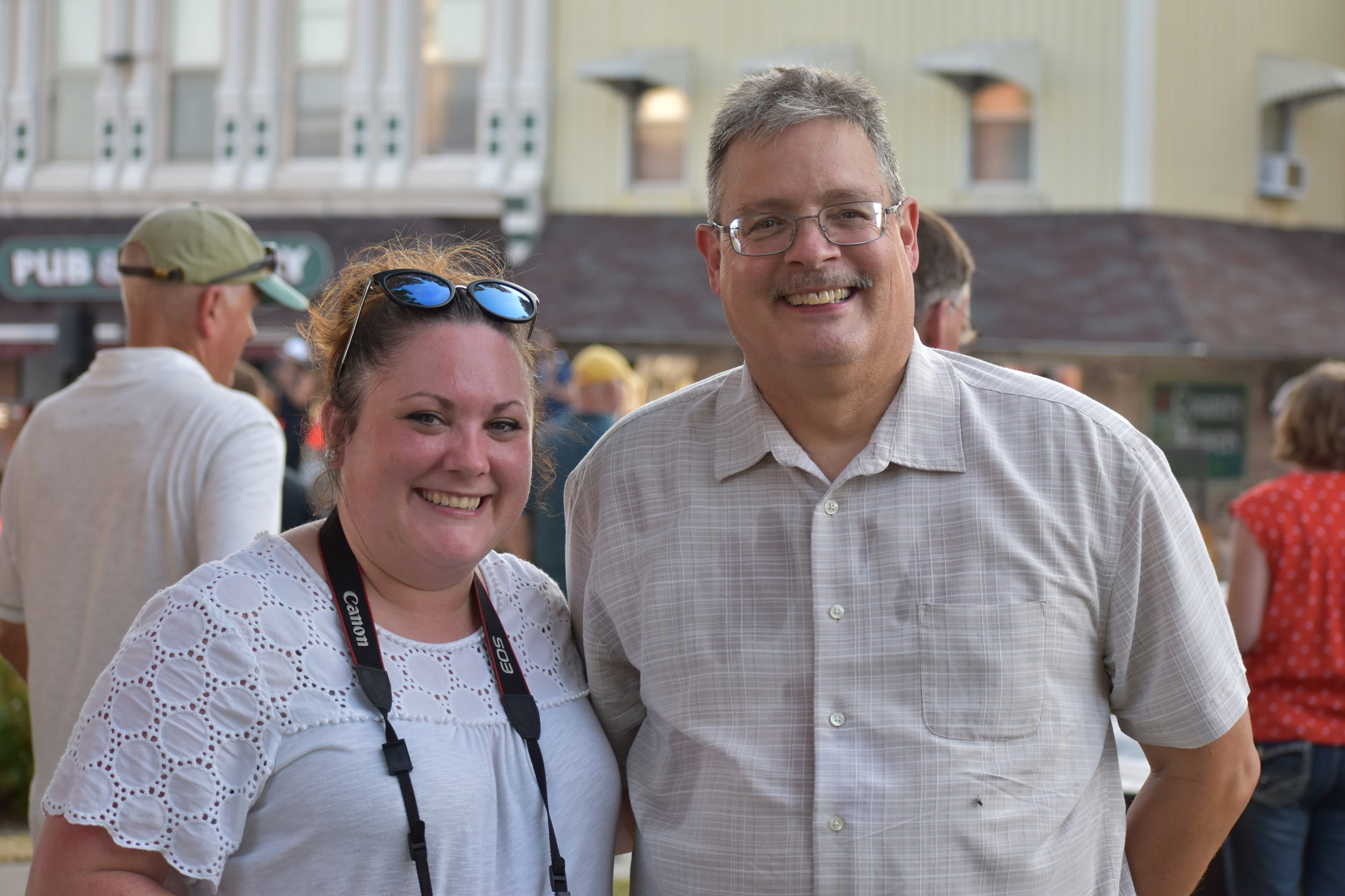 Lancaster Area Chamber of Commerce's Executive Director Heather Bontreger and Director Rick Sanson