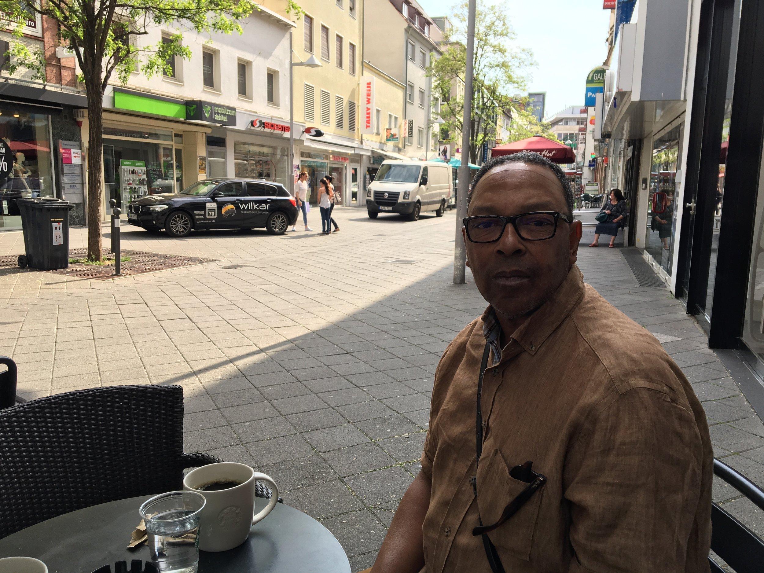 Larry Towensend at Nuremberg Starbucks