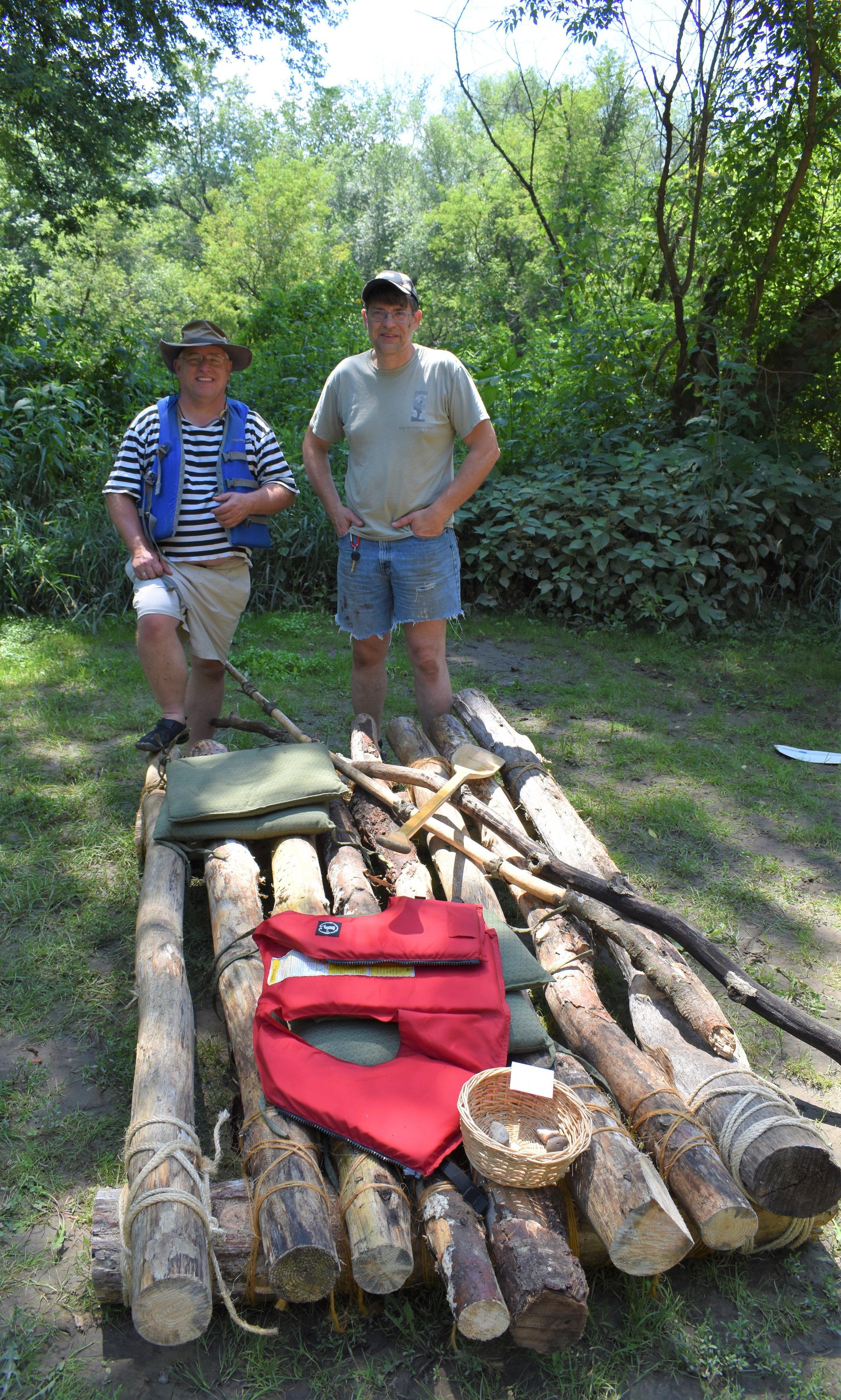 Raft 1- Joel Baker of DesMoine, IA and Scott Lind of Ontario