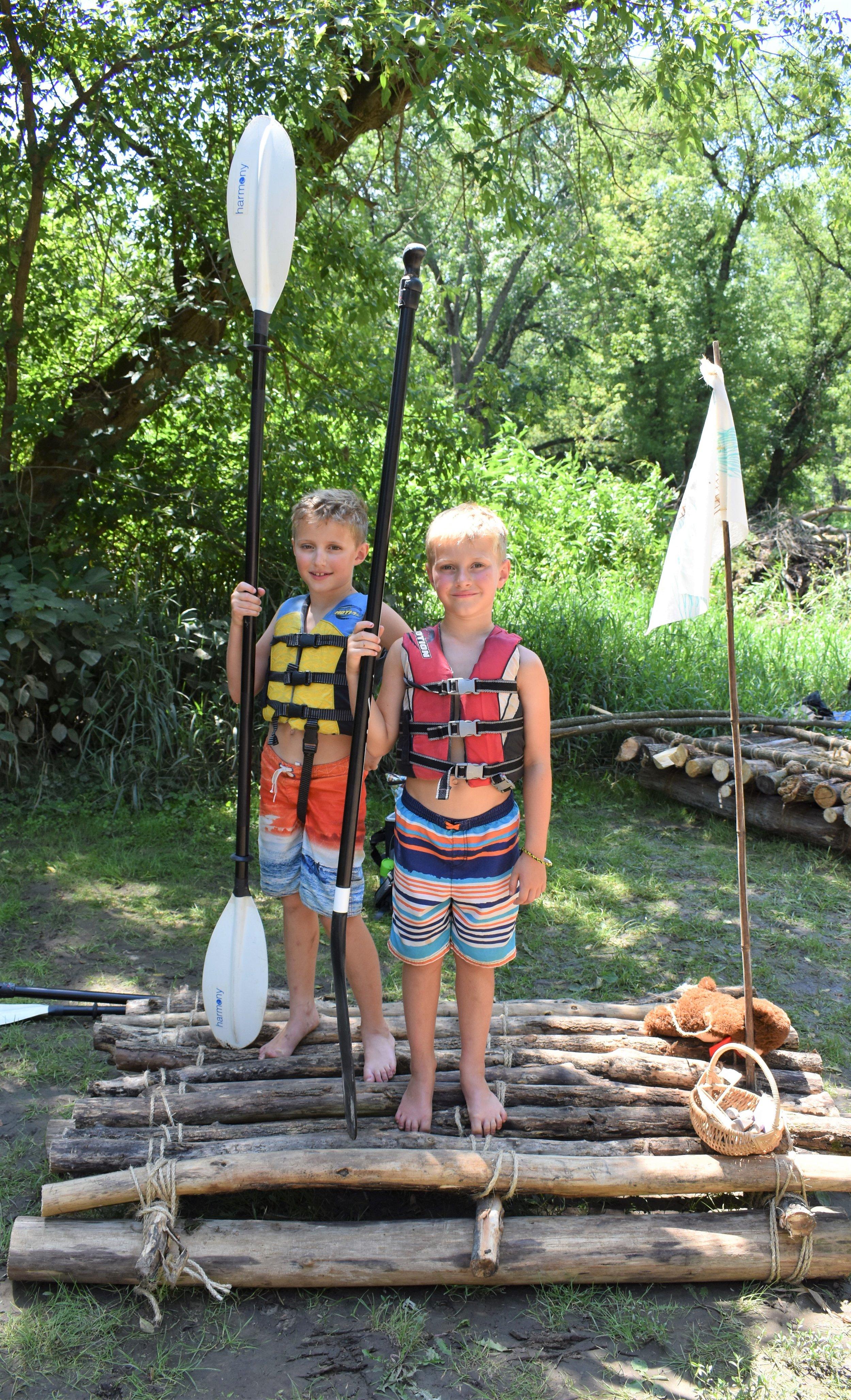 Raft 3-  Hixson Katz and his younger brother Kieran of Sun Prairie, WI