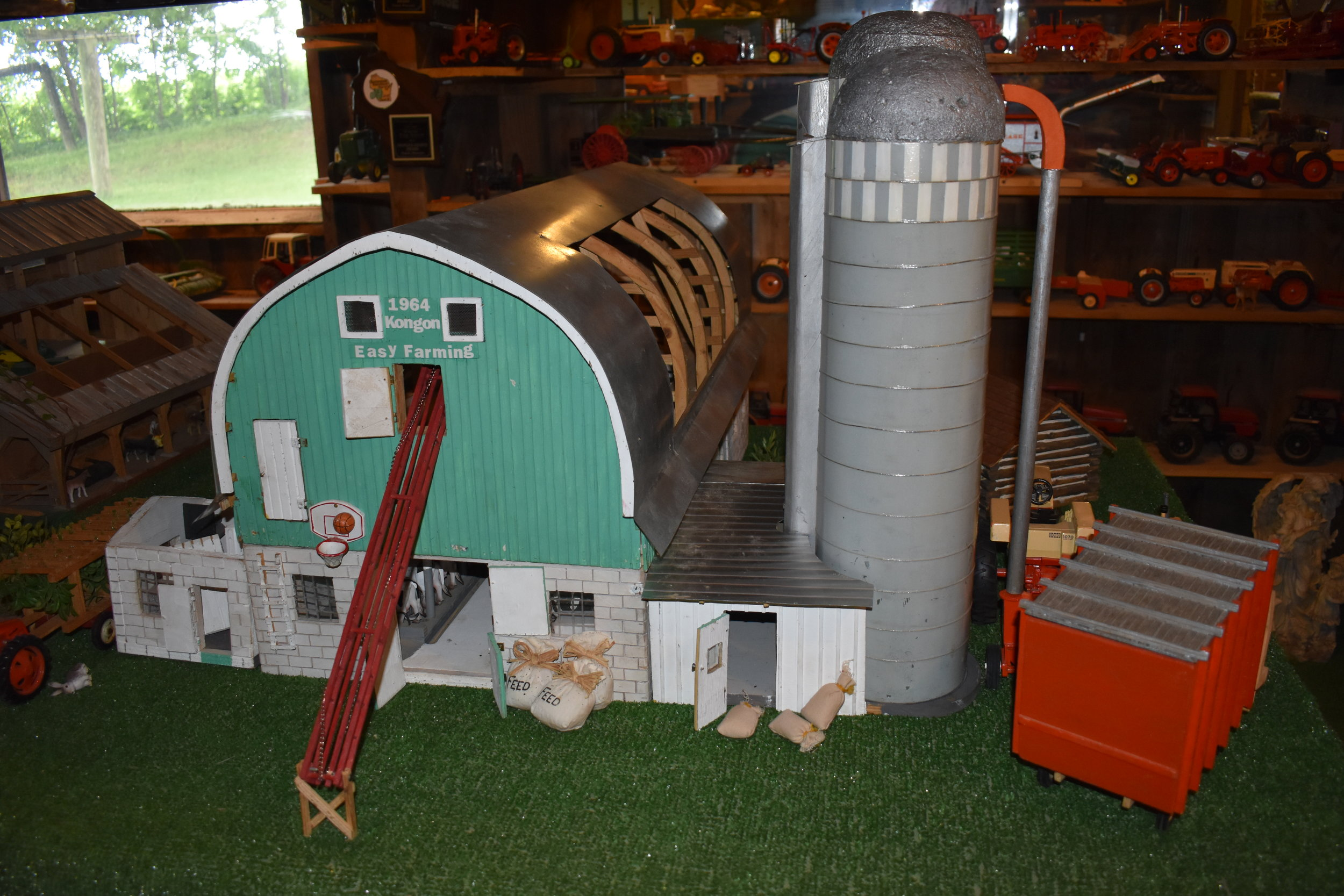 Randy's father's model barn that  inspired him