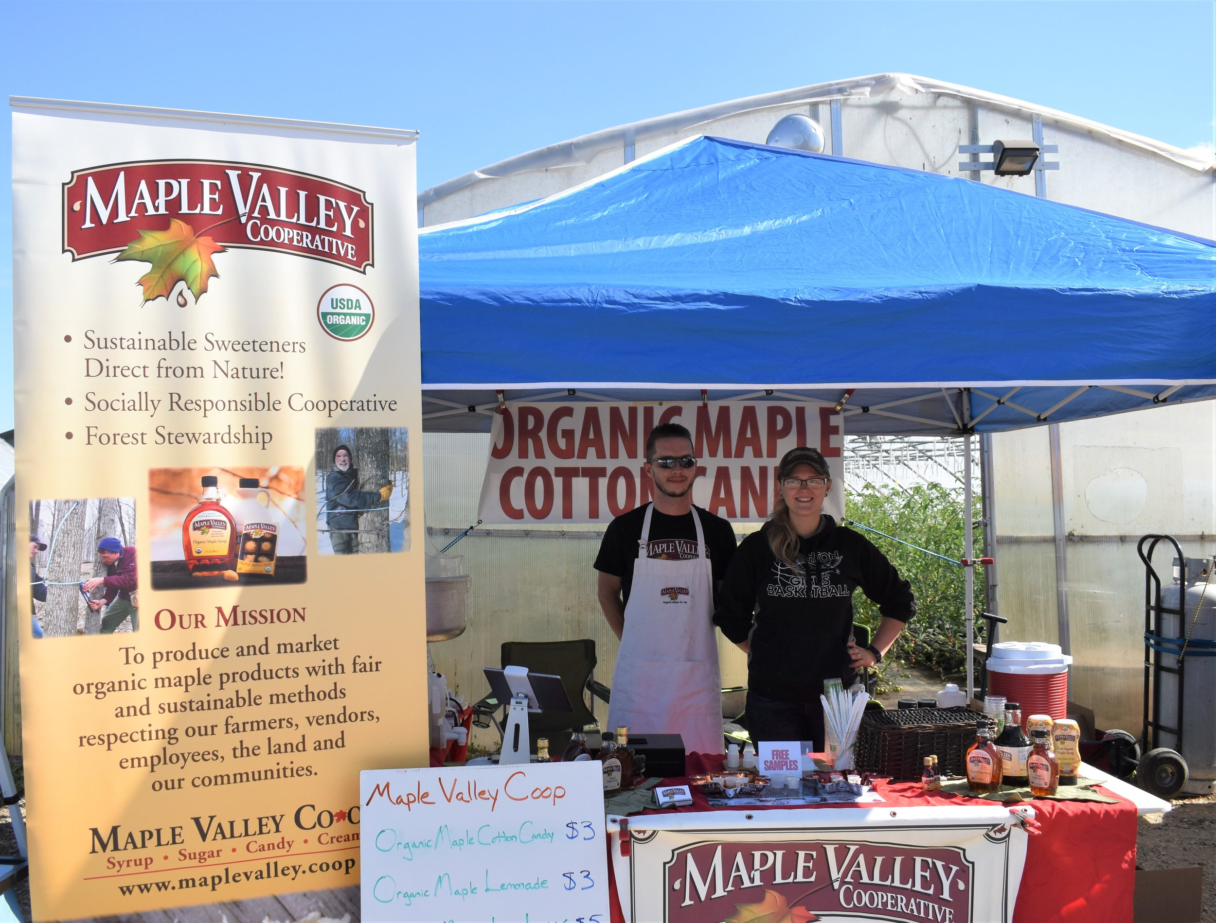 Justin and Lori Cain of Maple Valley Cooperative