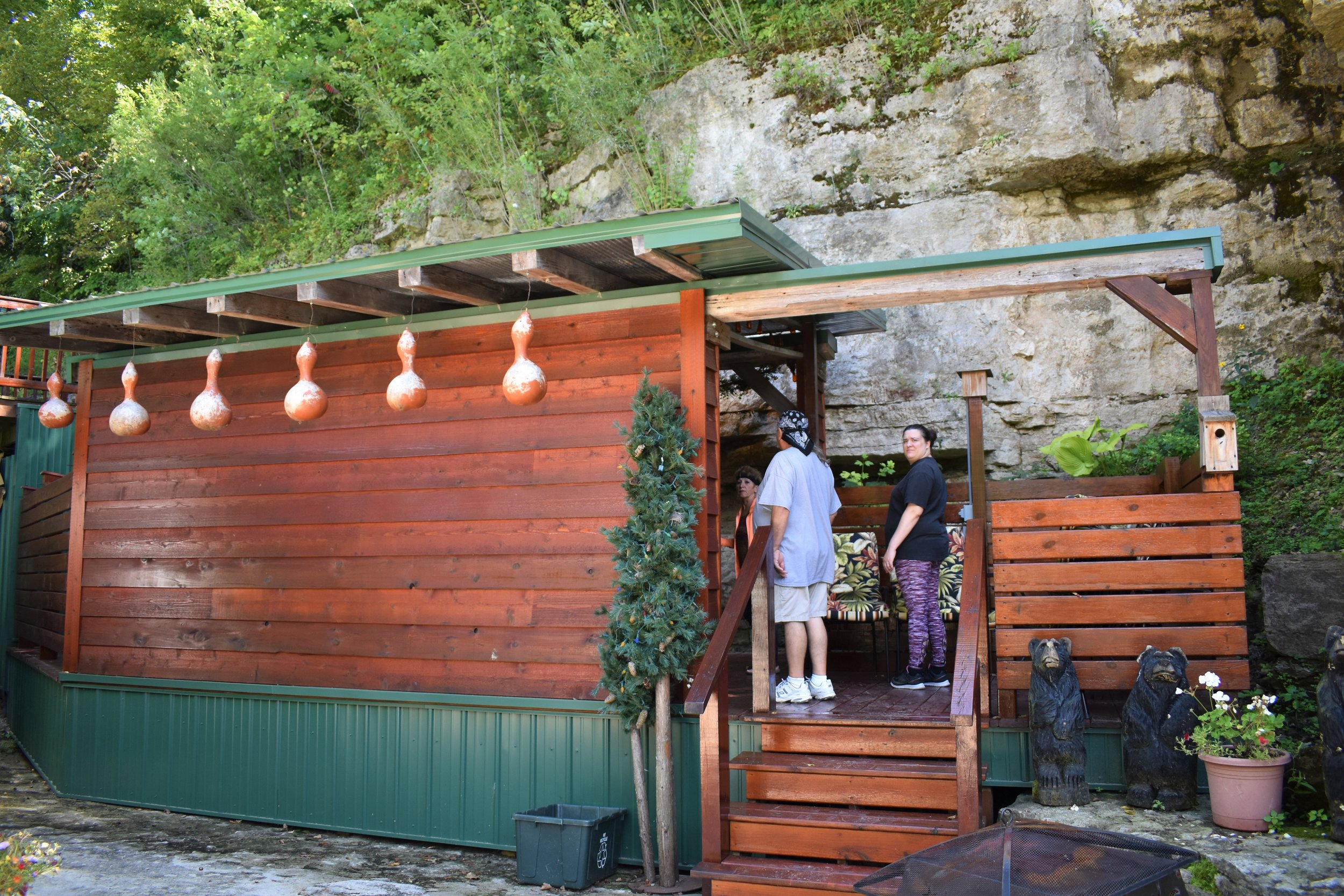 The cliff side hot tub venue