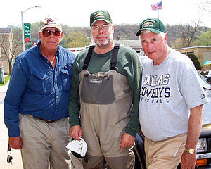 L to R- Retired Green Bay Packer great Bob Skoronski, Len Harris, and retired Coach Bob Knight