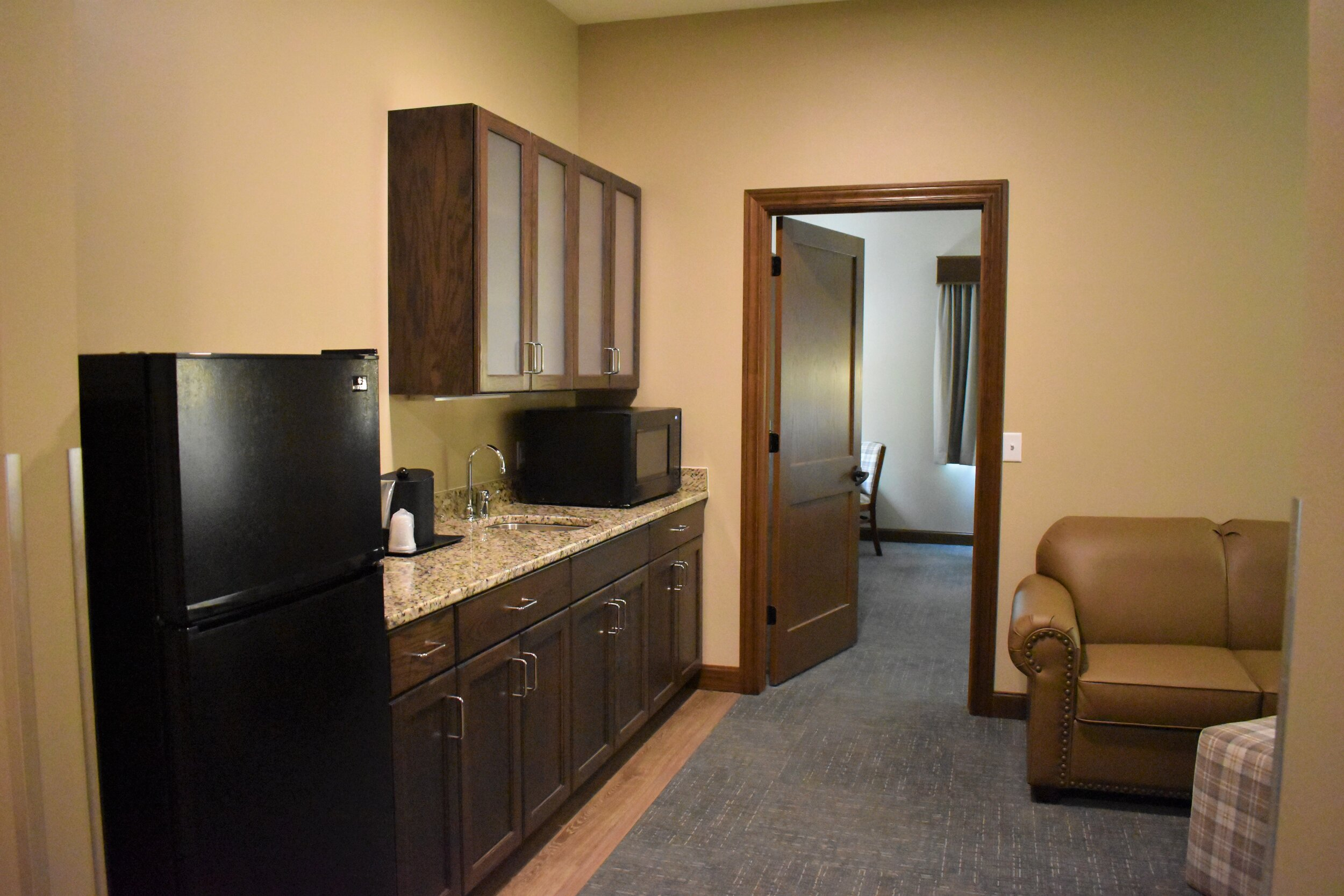 Inside an extended stay suite