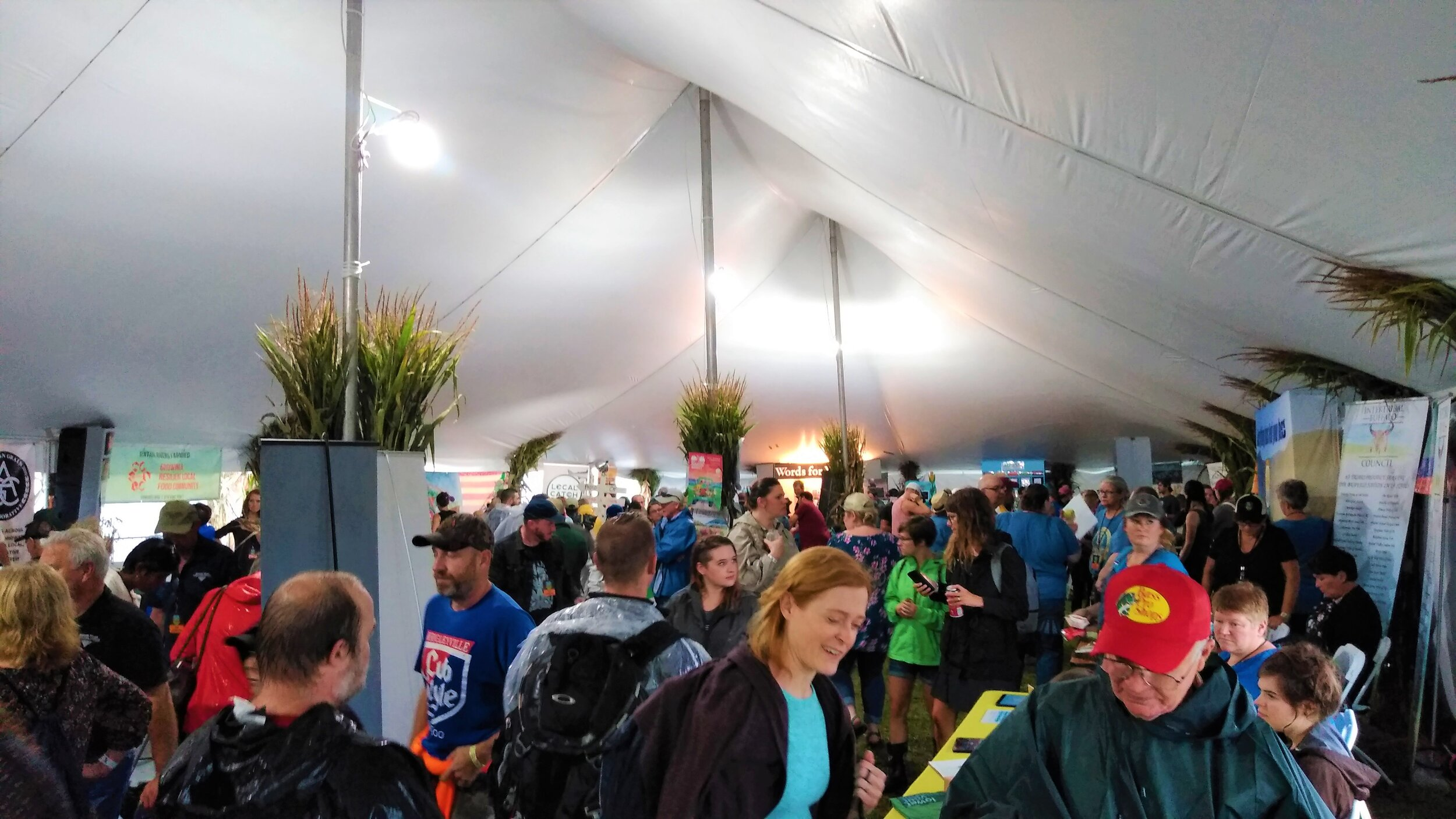 Inside the Homegrown village tent.