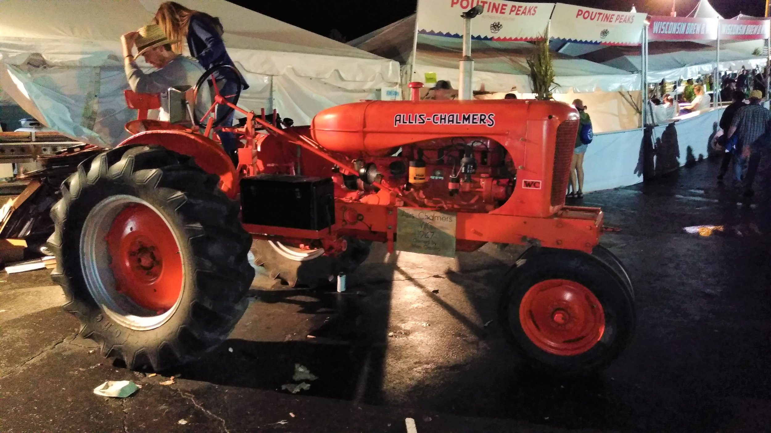 The Greeno tractor on display at Farm Aid 2019.