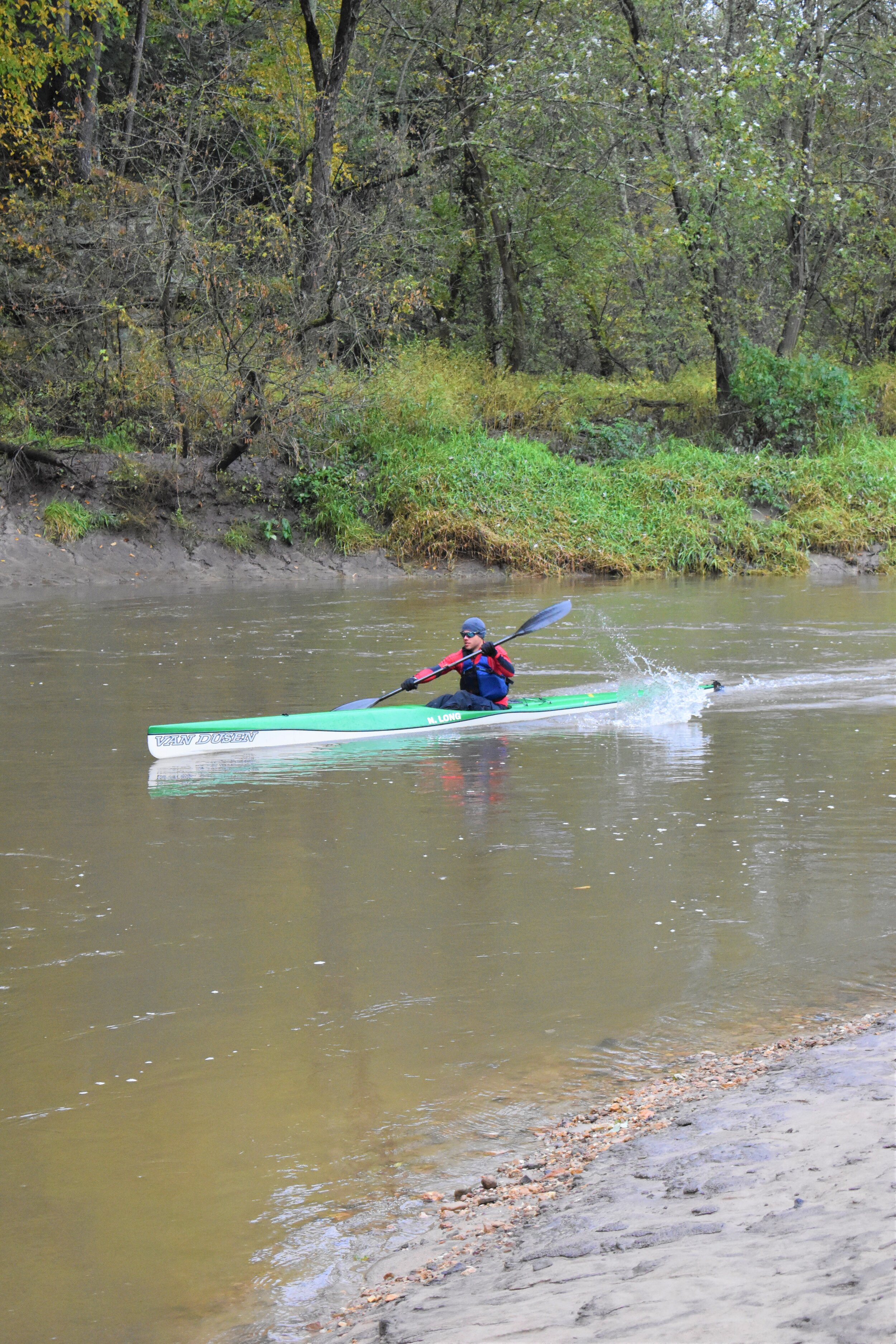 First in the water, and this years first place finisher, Nathan Long from Rib Lake, WI.
