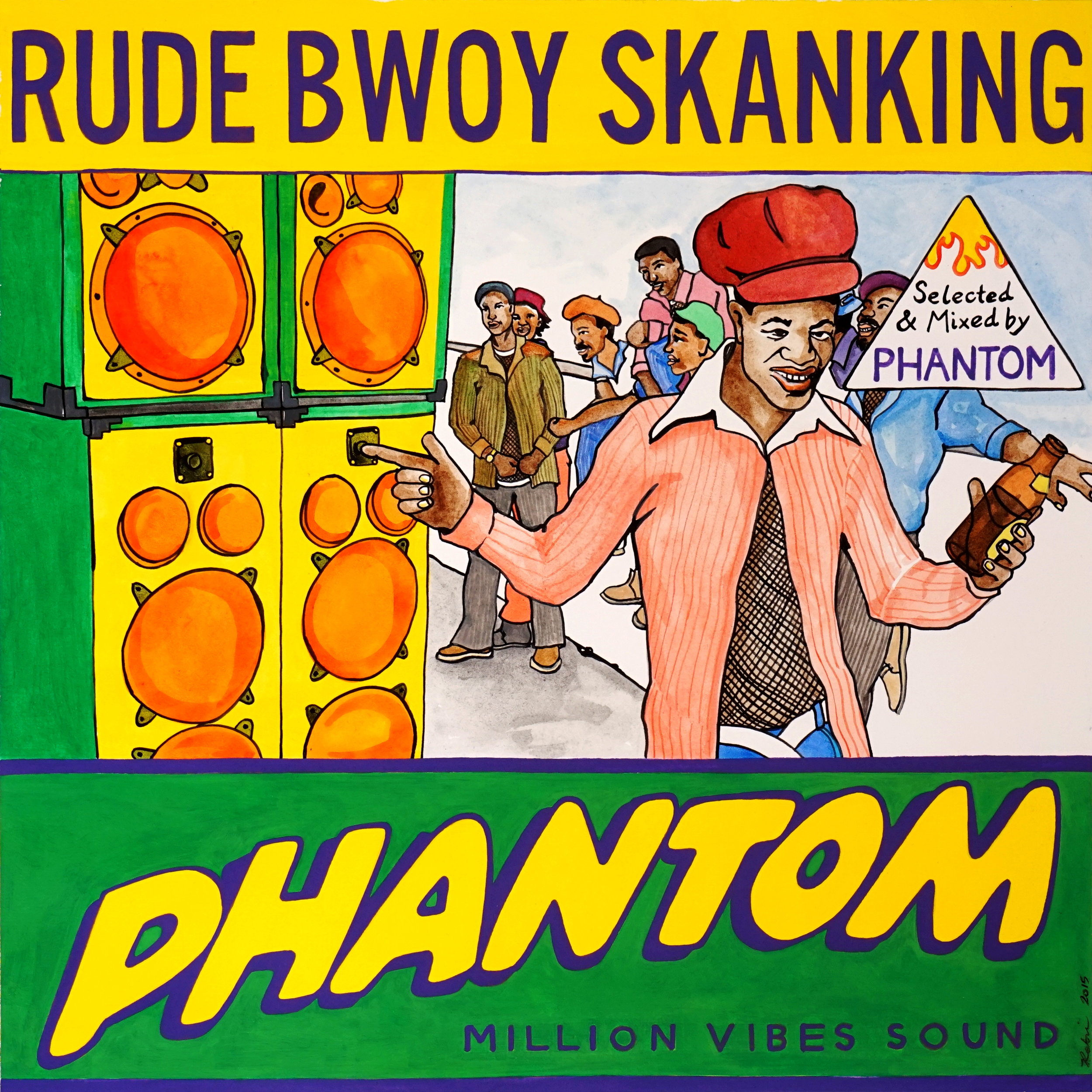 DJ Phantom (Million Vibes Sound) - Rude Bwoy Skanking (mixtape)