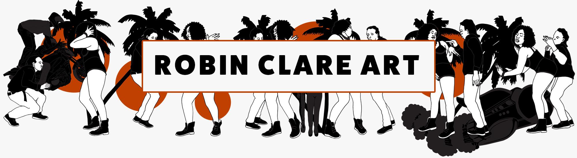 Robin Clare Art Banner