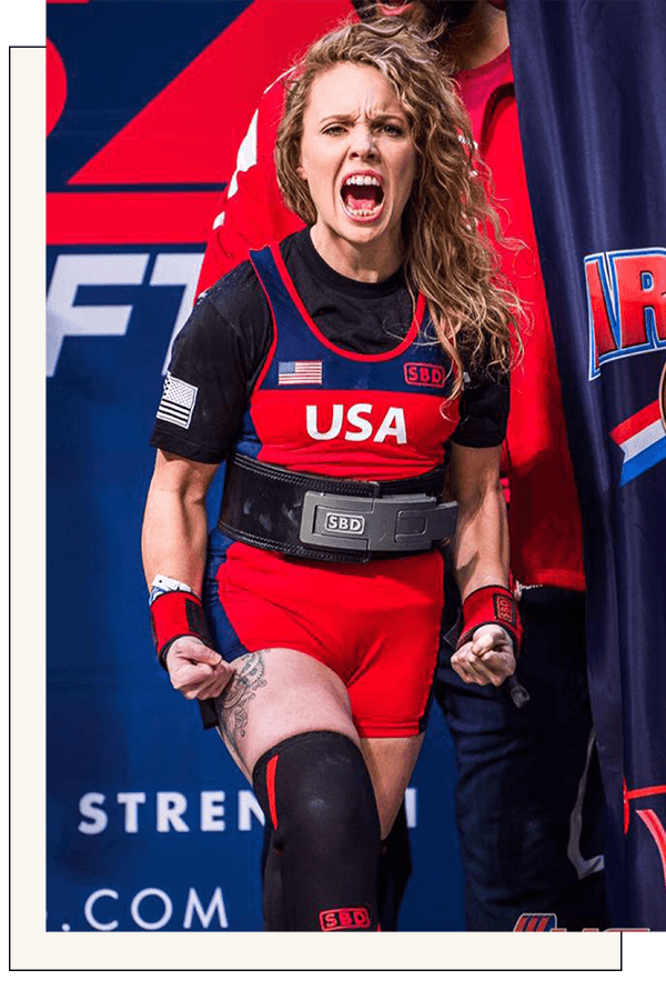 "Team USA PowerliftingHeather Connor - USA National Champion""I can't even begin to describe how much more energy I have after working with my coach at Vera Performance. I'm eating way more food than before, and my training has been improving with each session."""