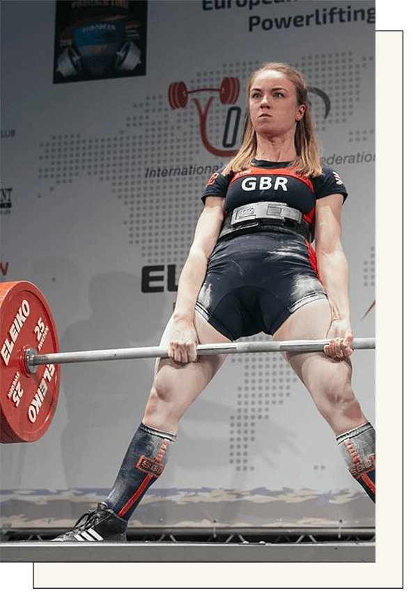 "Team Great Britain PowerliftingCat Smith - IPF Gold Medalist4X World Record Holder""I can honestly say that working with my nutrition coach at Vera Performance has been a huge part of the success in my recent powerlifting career. Before working with Vera Performance, I really felt that my nutrition was letting me down and I'm so glad to be able to work with this stellar team. I've never eaten this much food before, my training has been improving tremendously weekly and my recovery has been incredible. My coach also handles all of the planning for my competitions and it's a HUGE relief not having to worry about making weight."""
