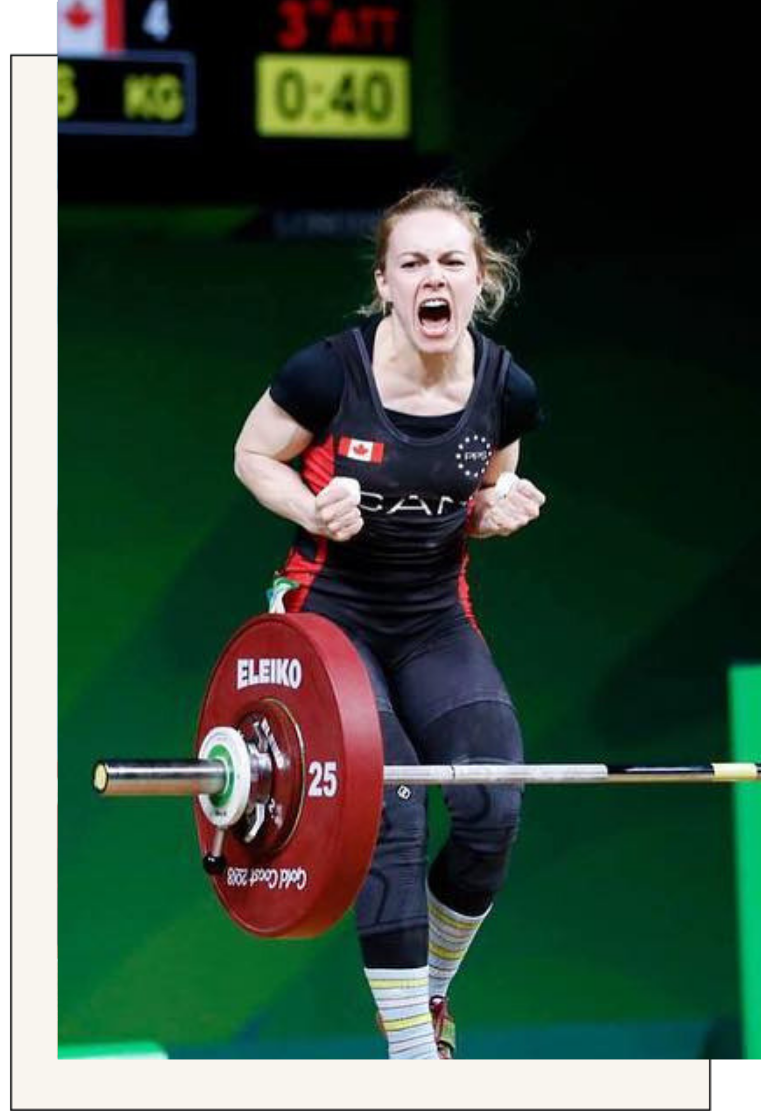 "Team Canada WeightliftingAmanda Braddock - 3X National Champion & Gold Medalist""As a high-level athlete, working with Vera Performance has been one of the best decisions I've made in the effort to achieve and sustain my best possible performance.I compete frequently as part of Team Canada - not only at international events but at smaller meets throughout the year. I may need to make weight 8 to 10 times a year while ensuring my body is fueled and as strong as possible.Since working with Vera Performance, I have had some of the best competition performances of my career - including breaking a longstanding Canadian record and winning gold in an international meet. Most importantly, I feel confident and consistent in my lifting and look forward to many more meets with Vera Performance!"""