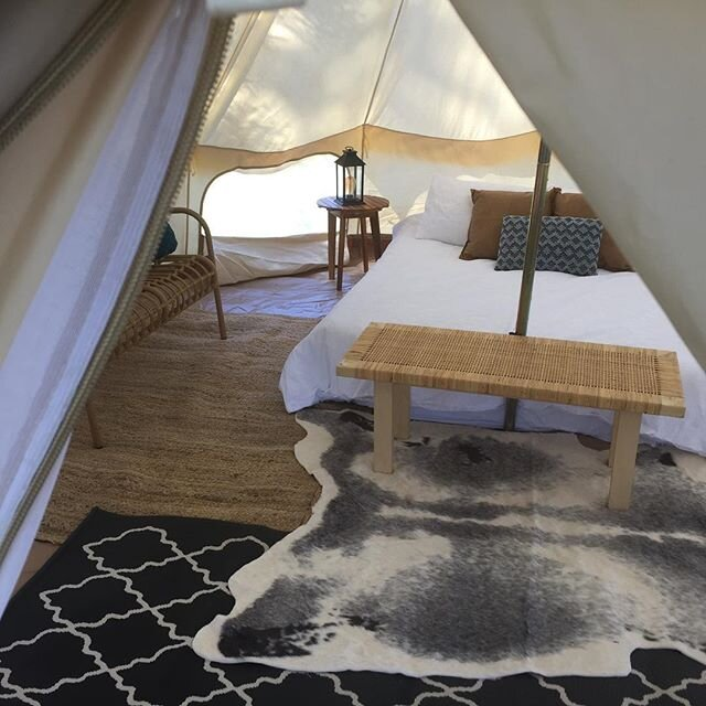 GLAMPING TWIN SHARE TENTS - One tent left (sleeps 2)