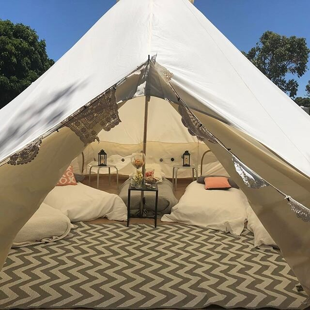 GLAMPING TWIN SHARE TENTS - 3 Available (sleeps 2)