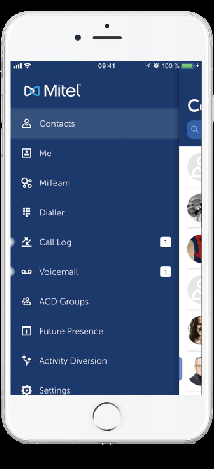 MiCloud Telepo mobil app.